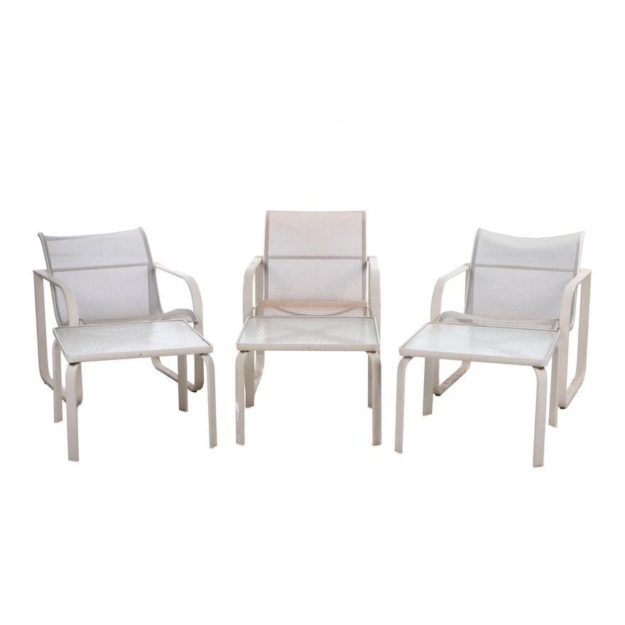 Strange Brown Jordan Quantum Metal Patio Furniture Group Of Six Ebth Pabps2019 Chair Design Images Pabps2019Com