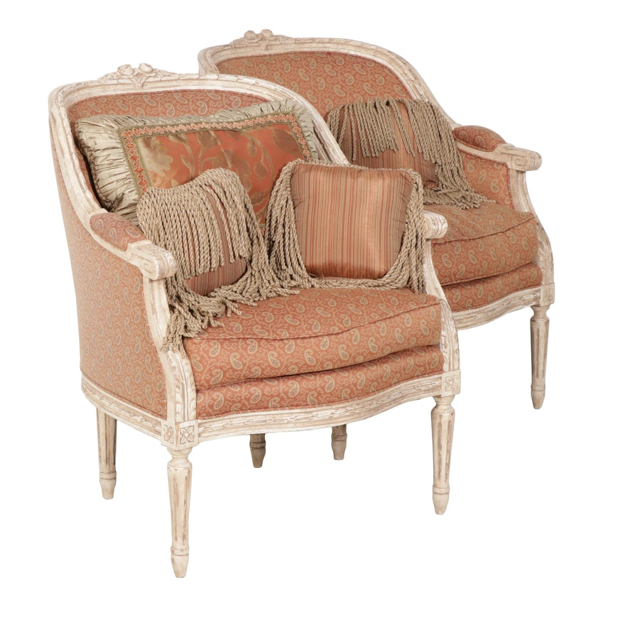 French Provincial Chair >> Harden French Provincial Style Bergere Chairs Set Of Two
