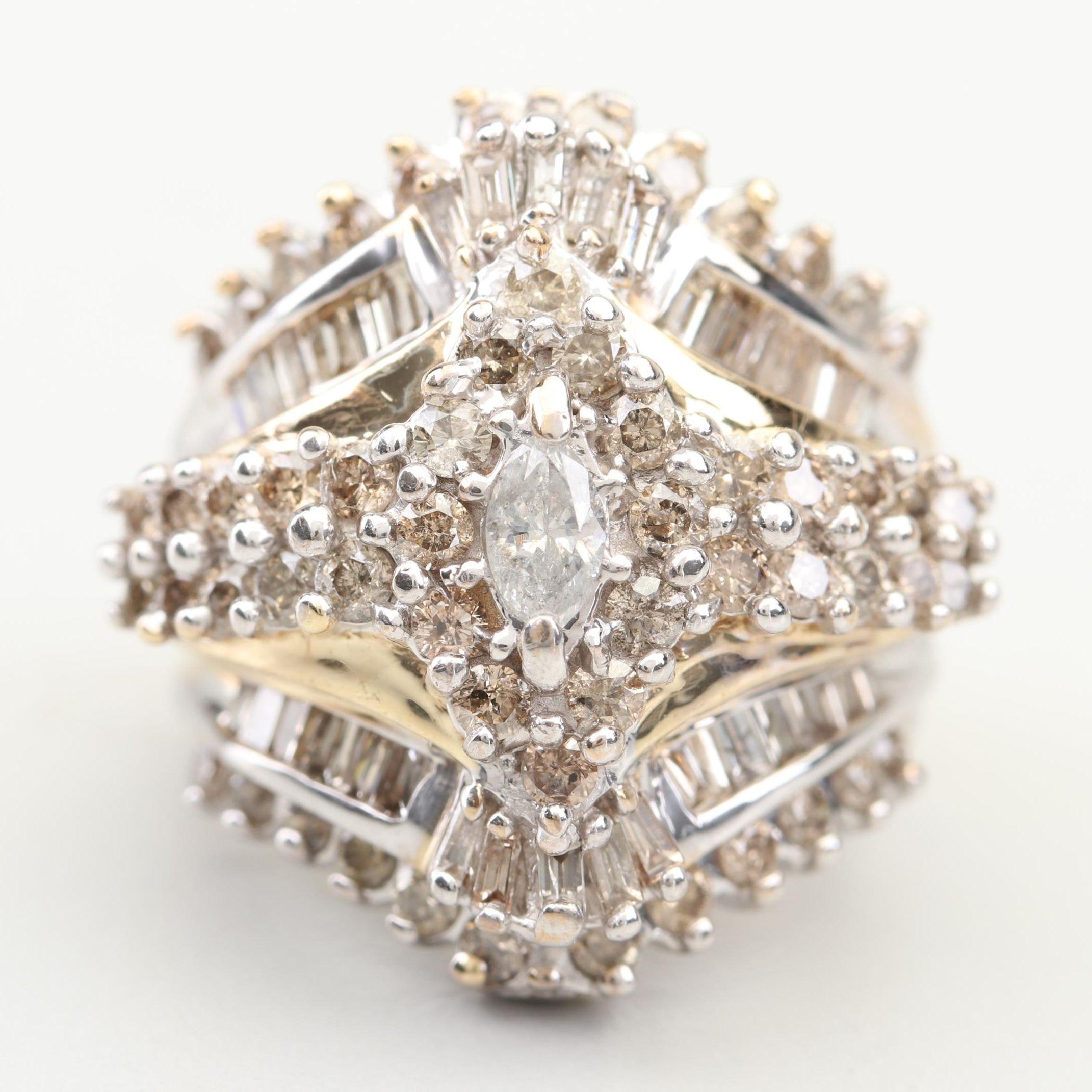 10K Yellow Gold 3.13 CTW Diamond Ring