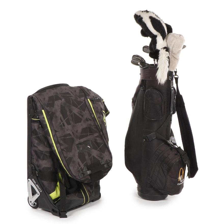 Ogio Golf Travel Bag and LPGA Championship Women's Golf Bag and Clubs