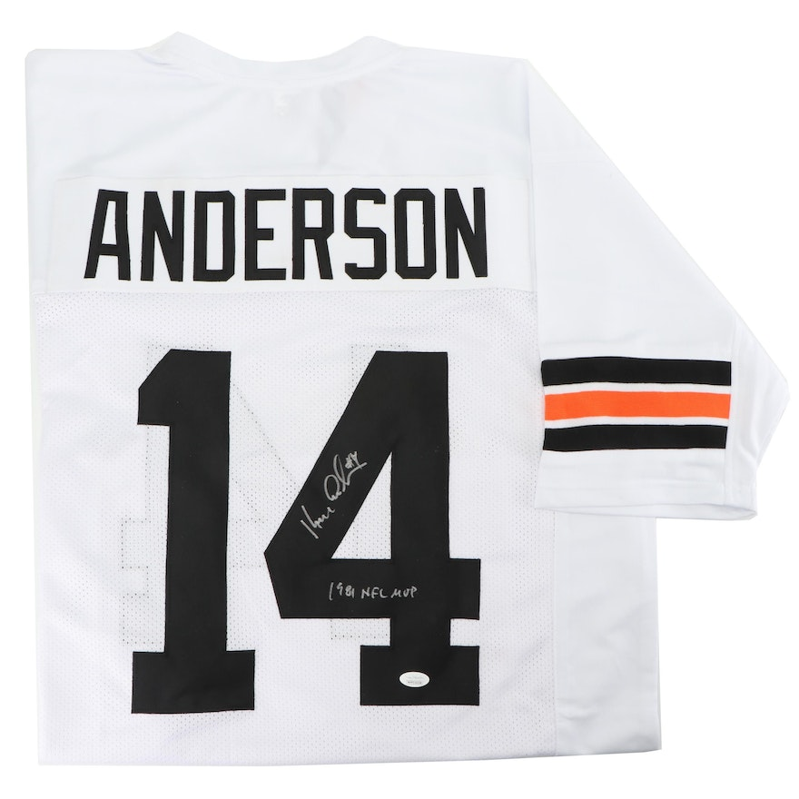 Hot Ken Anderson Signed Cincinnati Bengals Replica Jersey with  free shipping