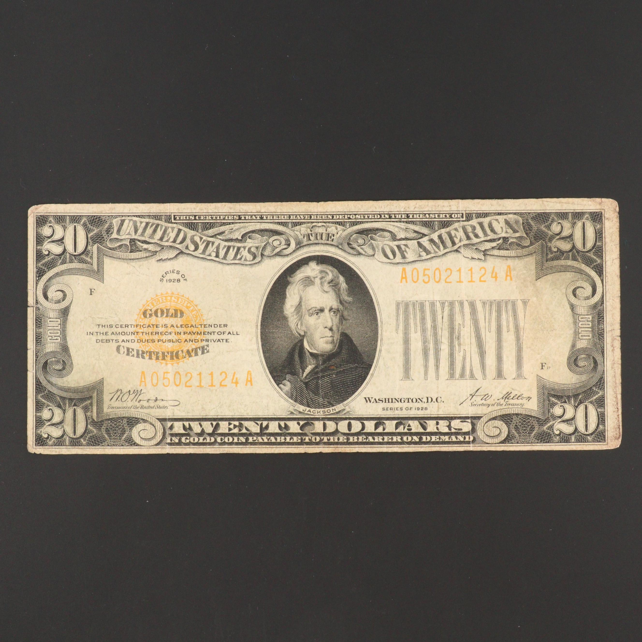 Series of 1928 Twenty Dollar Gold Certificate