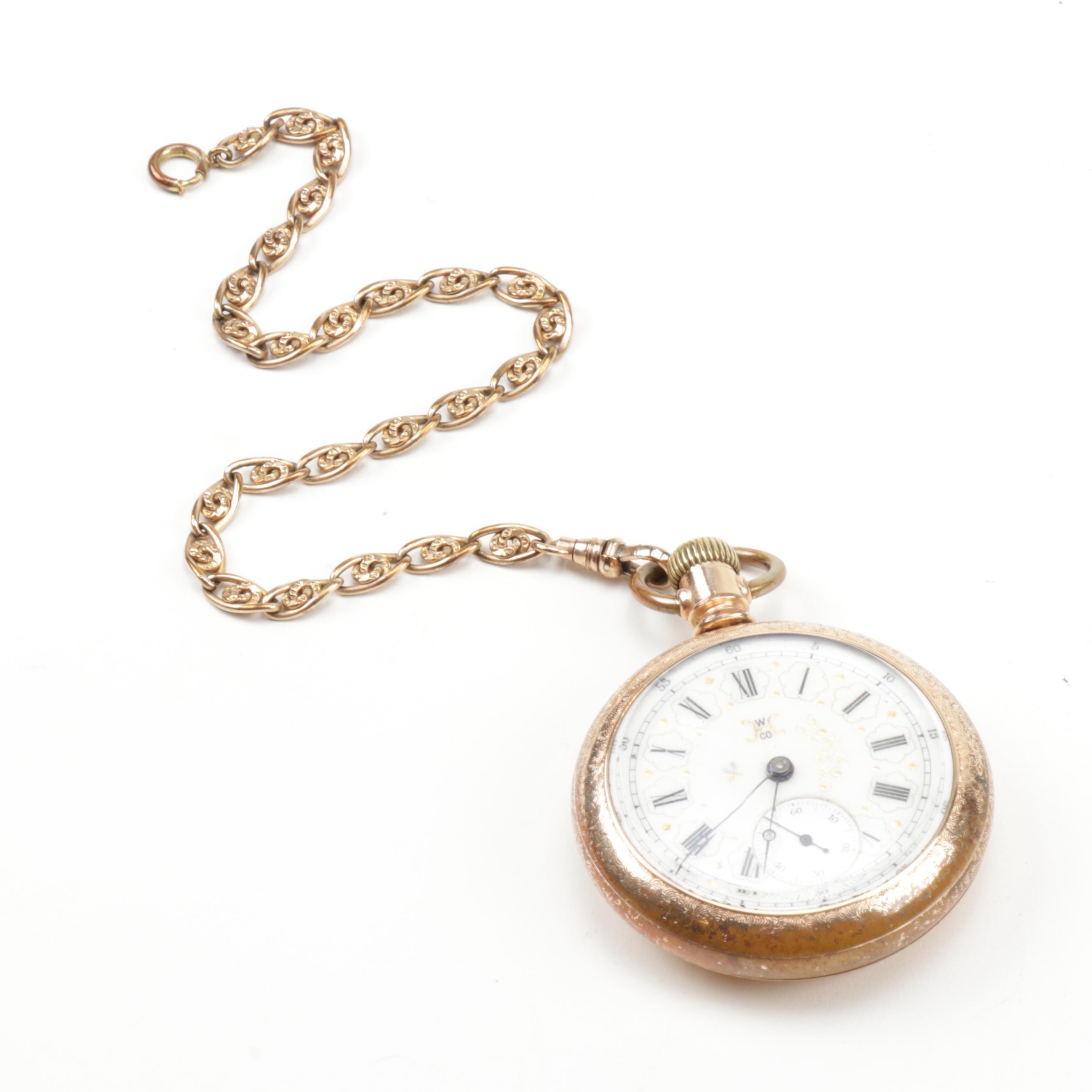 Hampden Gold Filled 17 Jewel Pocket Watch, circa 1890's