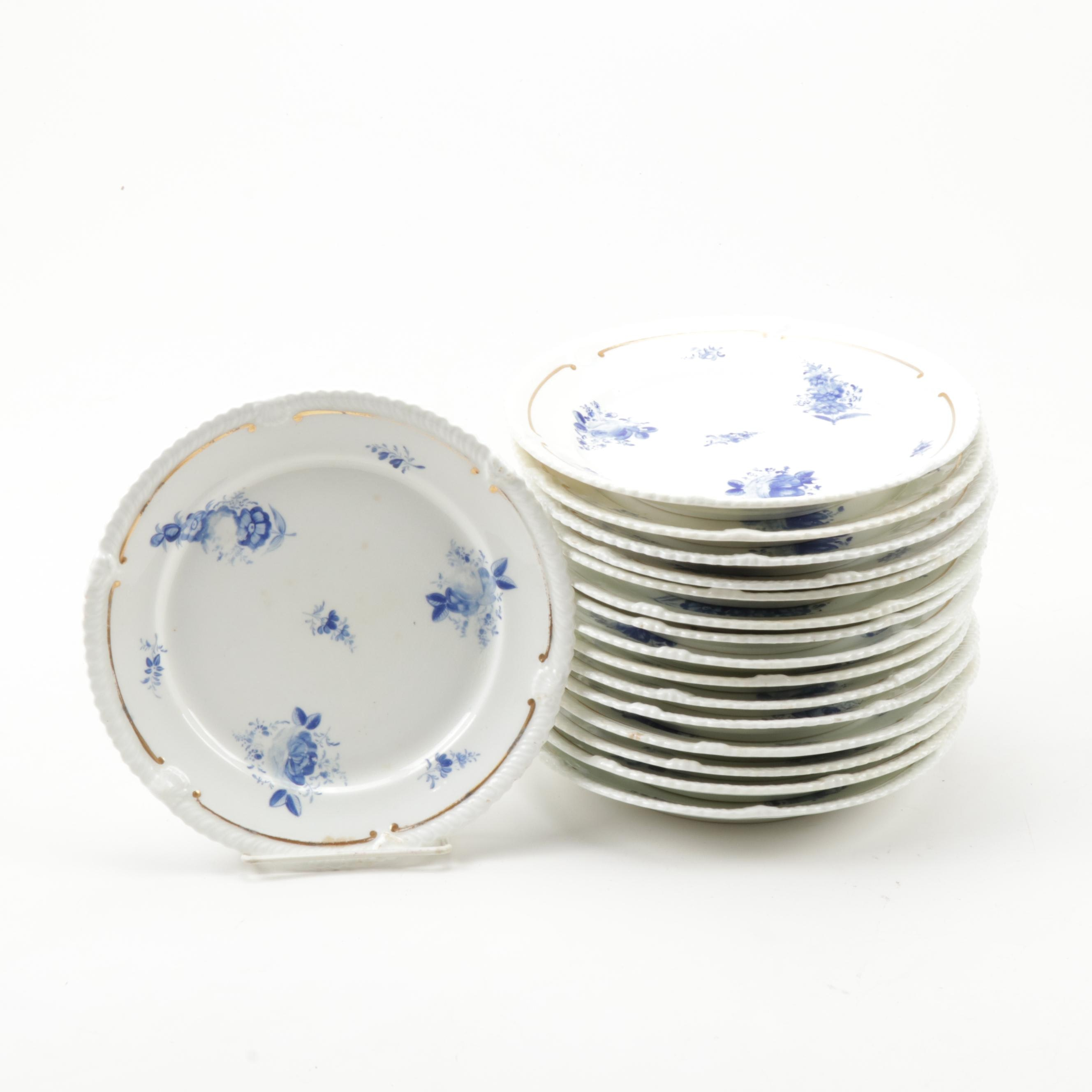 Hand-Painted Porcelain Plates, 19th Century