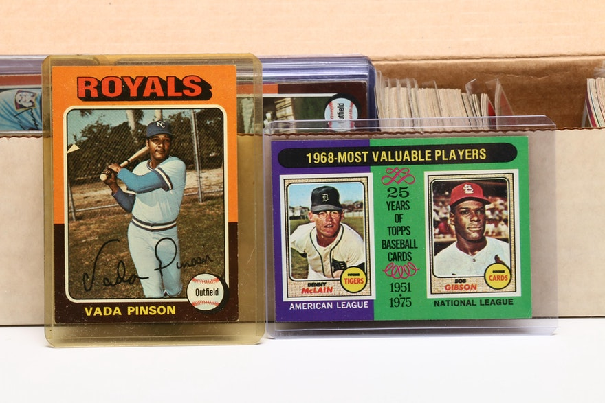 1975 Topps Baseball Cards Including Hall Of Fame Players