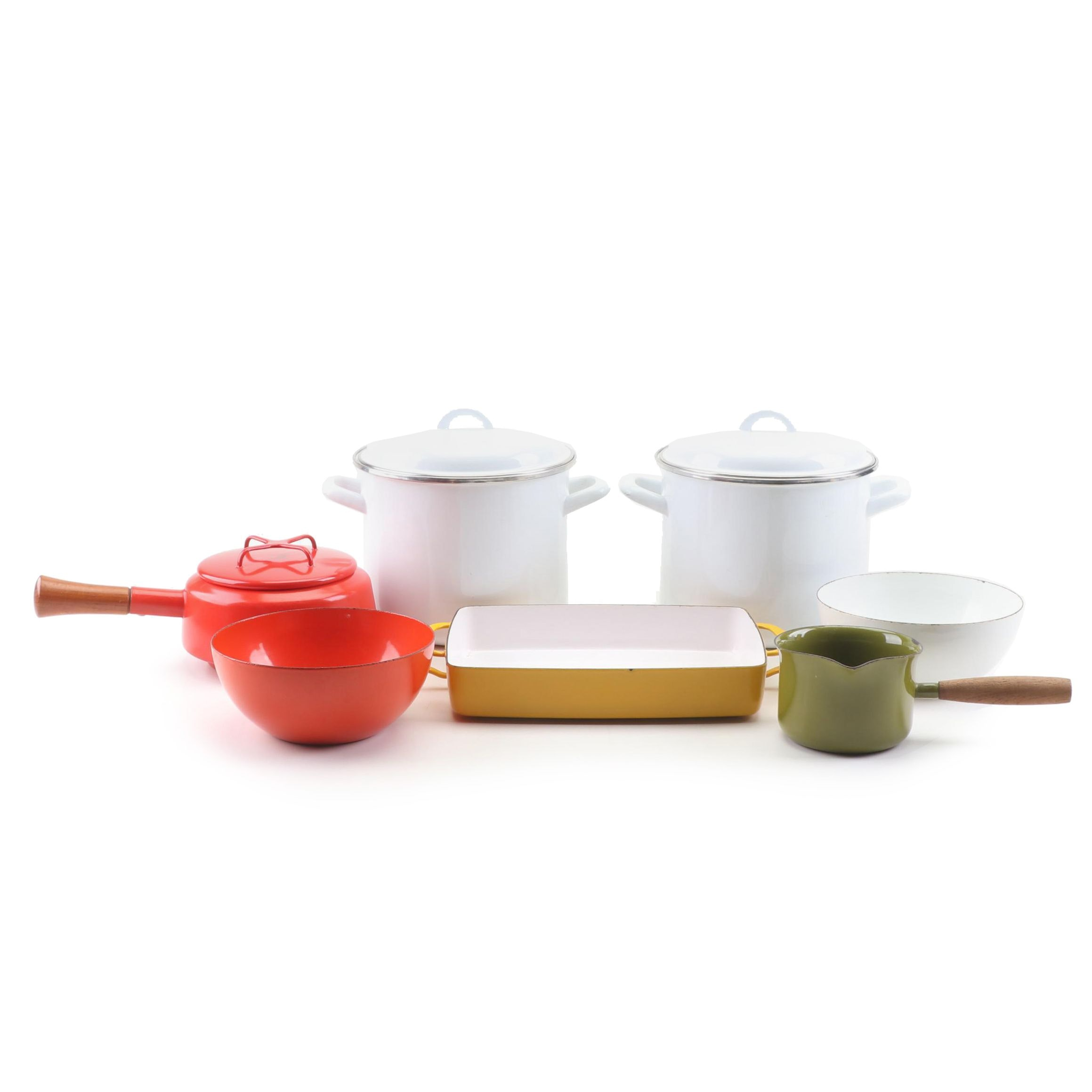 Vintage San Ignacio Enamel Cookware Set