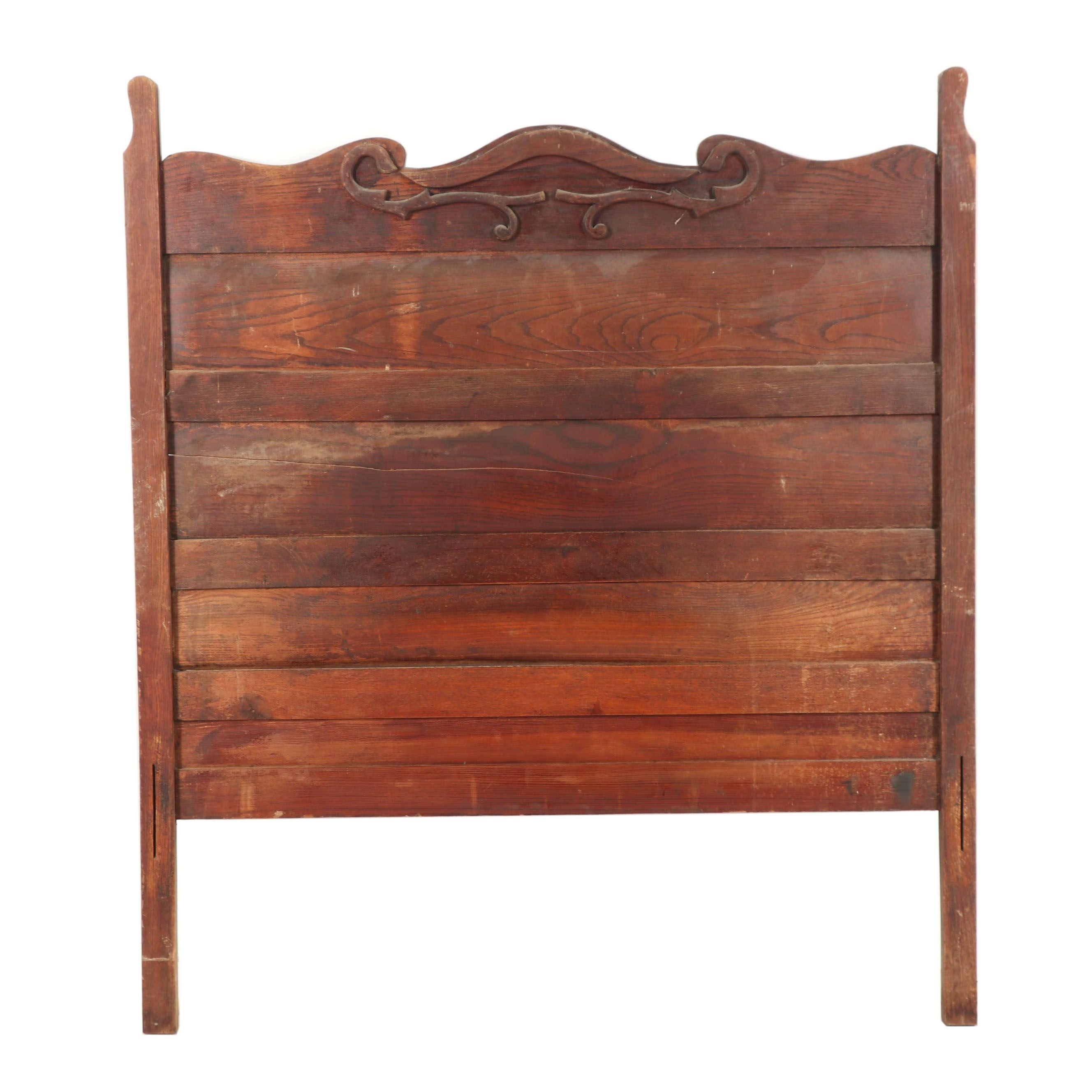Vintage Wooden Head Board