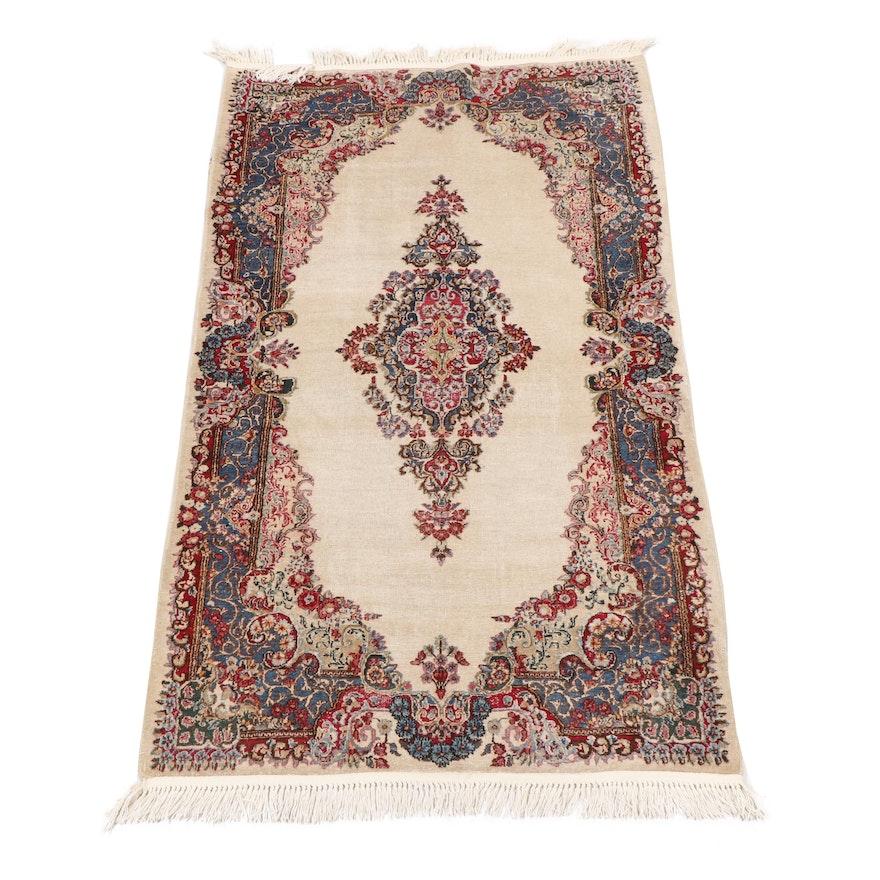 Hand-Woven Persian Kerman Wool Rug from Oscar Isberian, Circa 1930