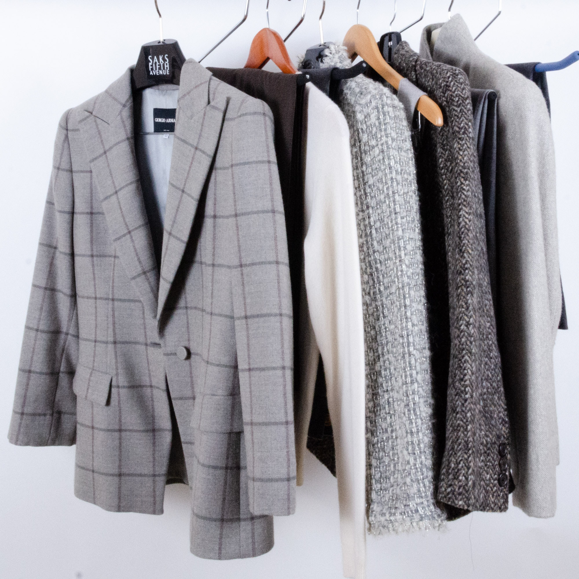 Women's Wool Jackets and Pants with Armani, Ralph Lauren