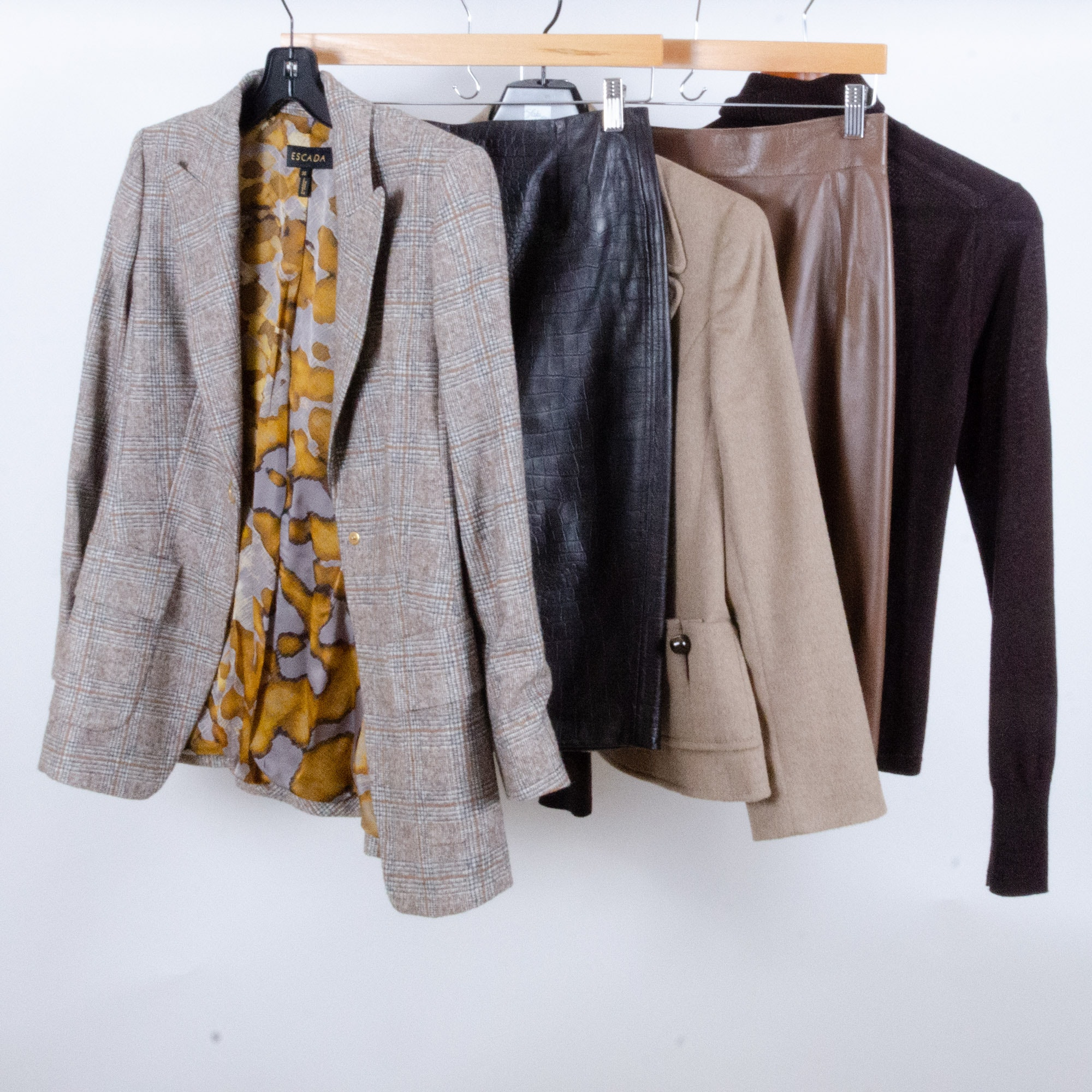 Women's Leather Skirts, Wool Jackets, Sweater, Les Copains, Akris Punto