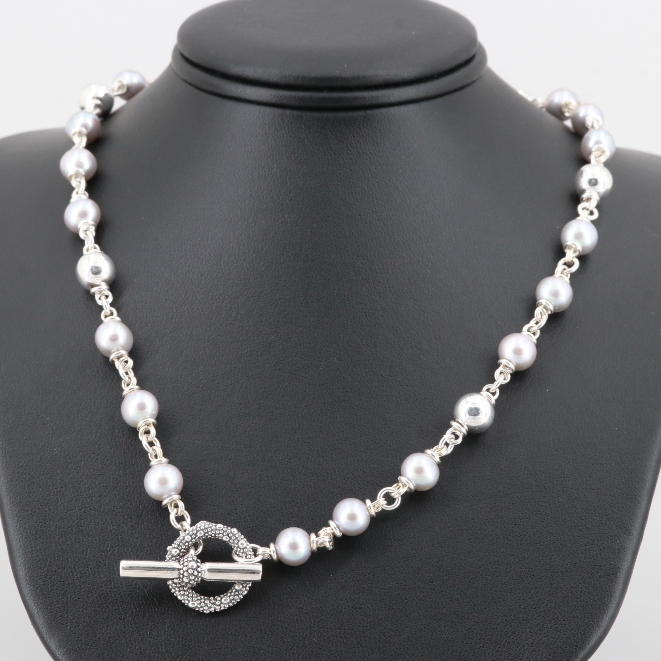 Michael Dawkins Sterling Silver Cultured Pearl Necklace