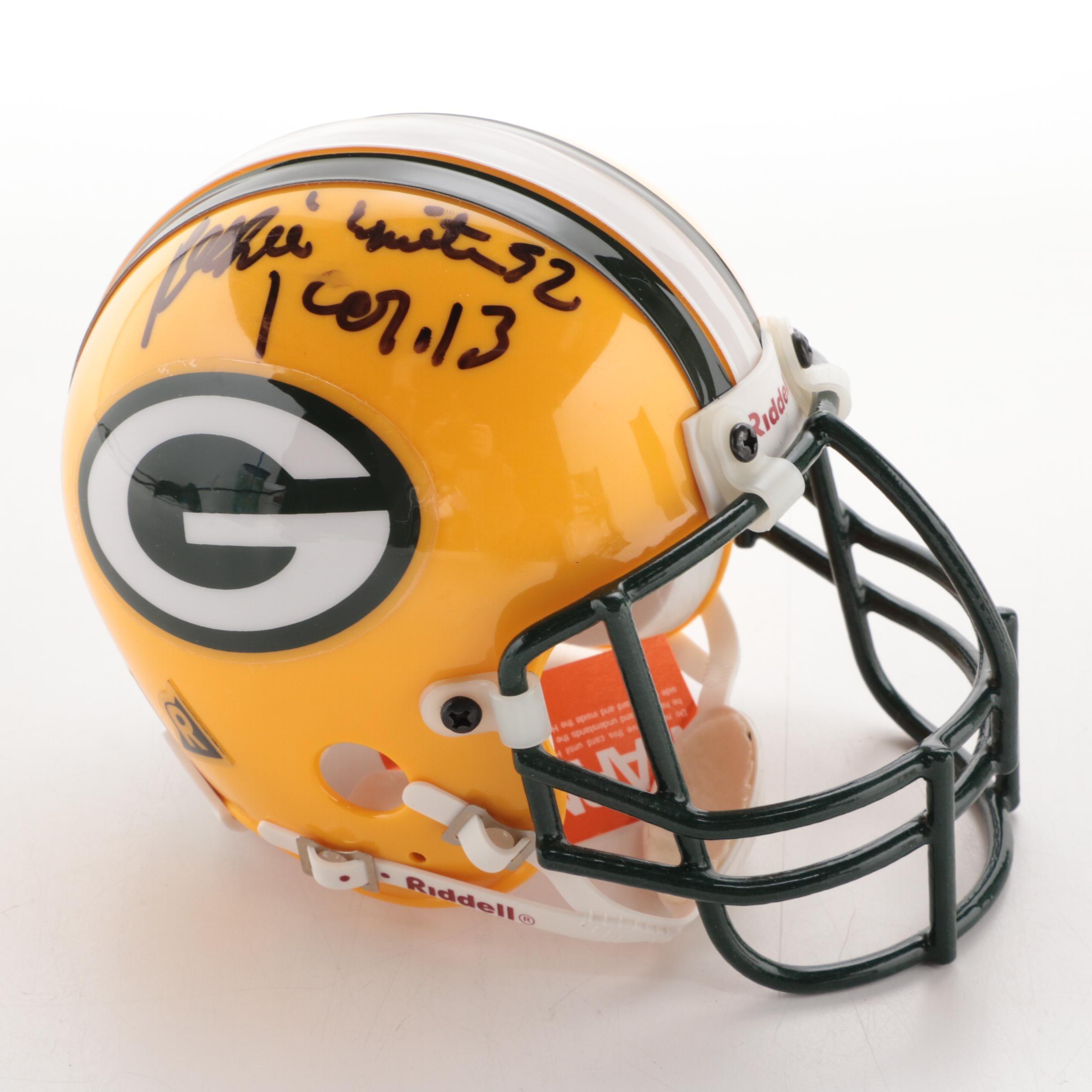 Reggie White Signed Green Bay Packers Mini Helmet  COA