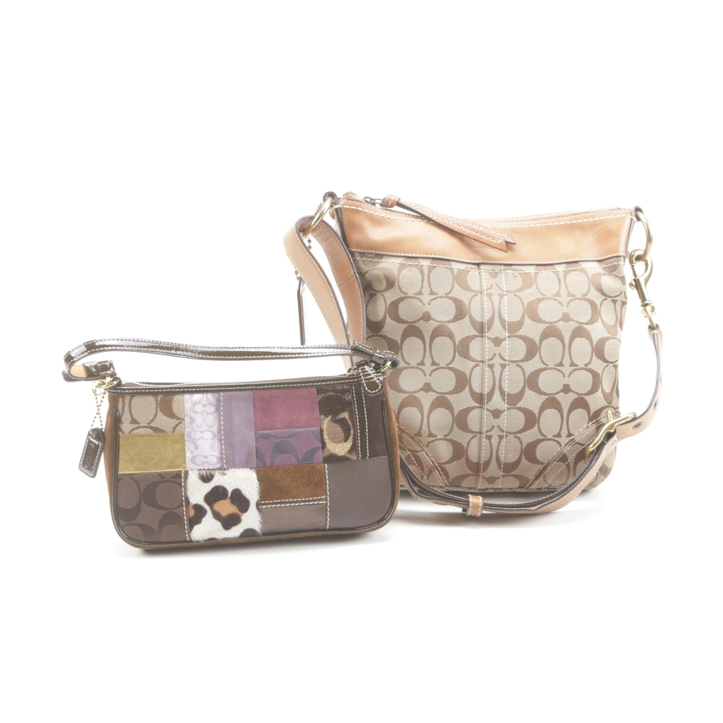 Coach Canvas and Leather Shoulder Bag and Coach Legacy Patchwork Demi Bag