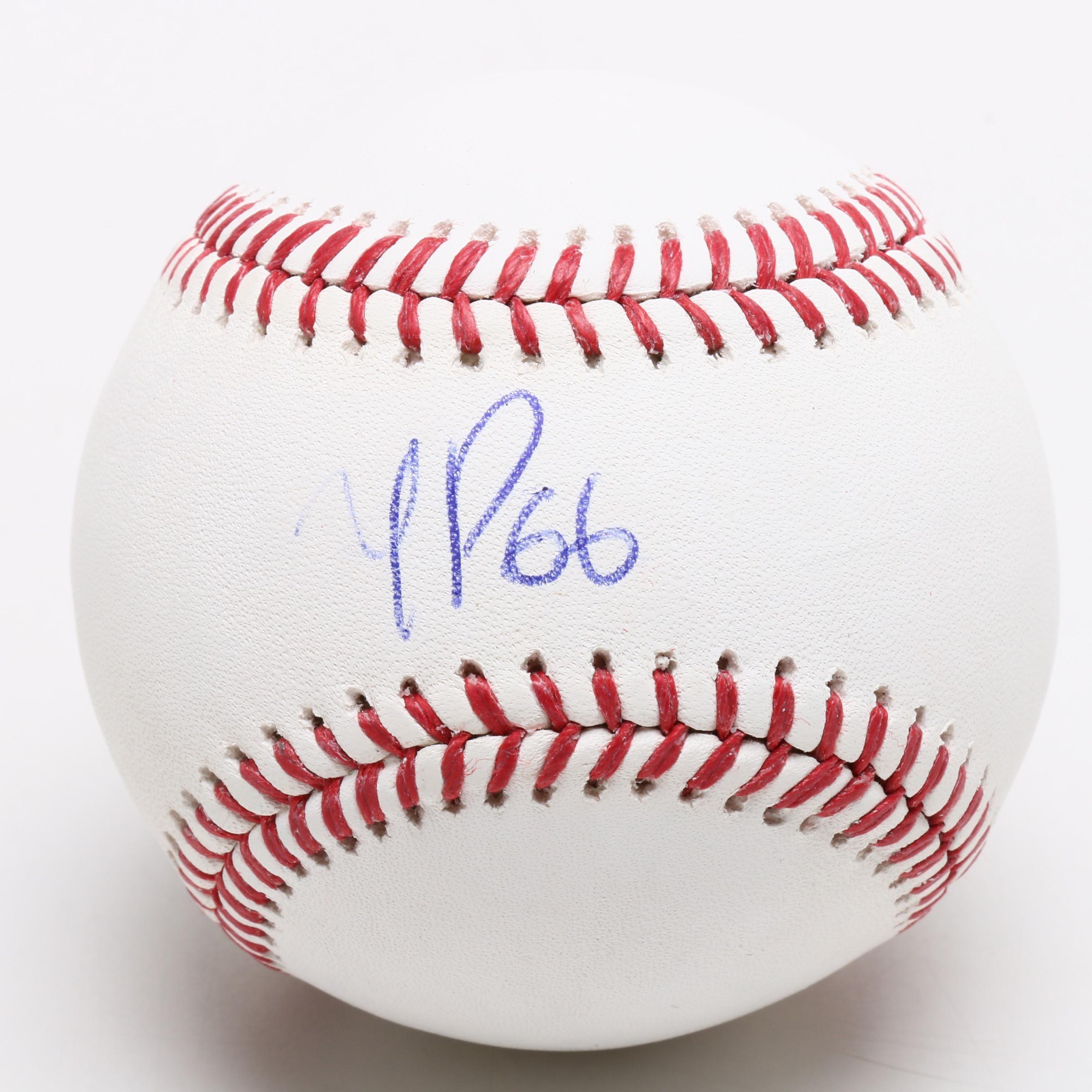 Yasiel Puig Signed Major League Baseball  COA