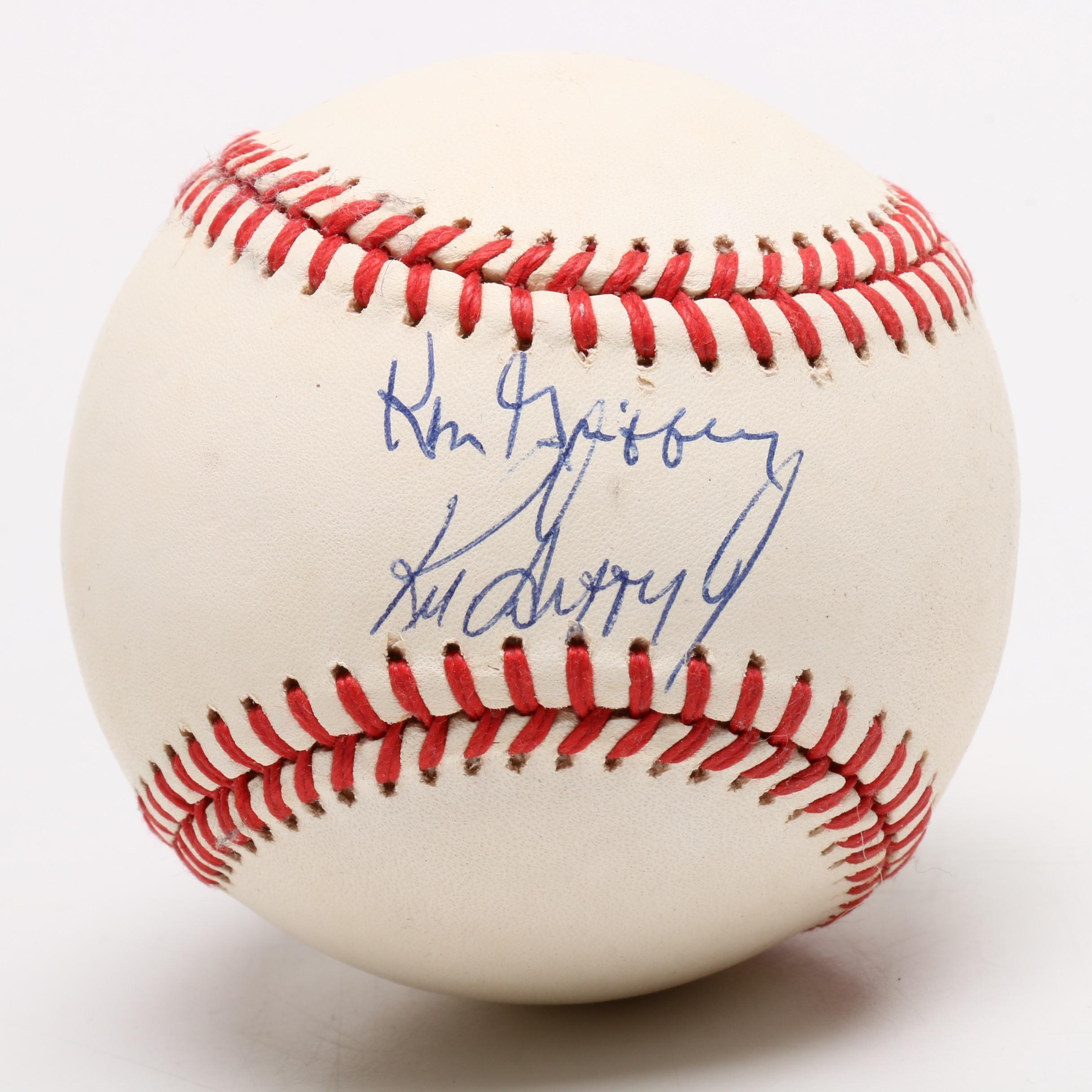 Ken Griffey Sr. and Jr. Signed American League Baseball