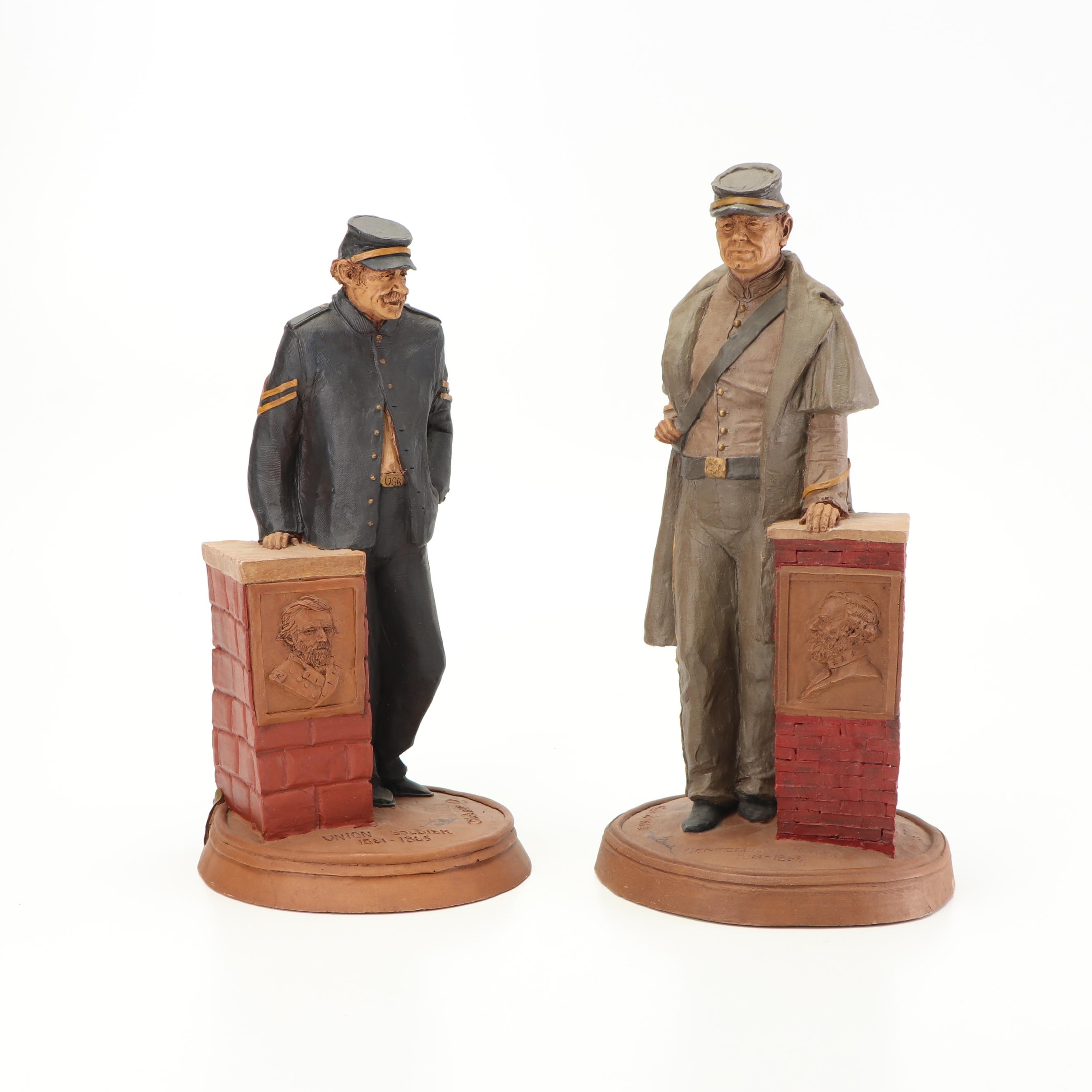 Tom Clark Union and Confederate Soldier Figurines