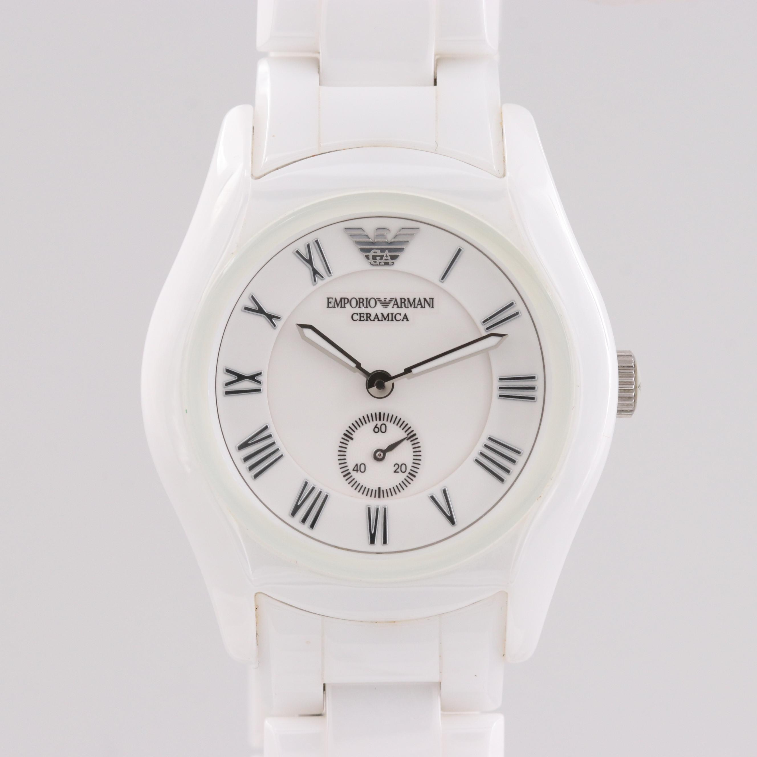 Emporio Armani Ceramica White Ceramic Quartz Wristwatch