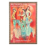 Metropolitan Opera Lithograph Poster After Marc Chagall