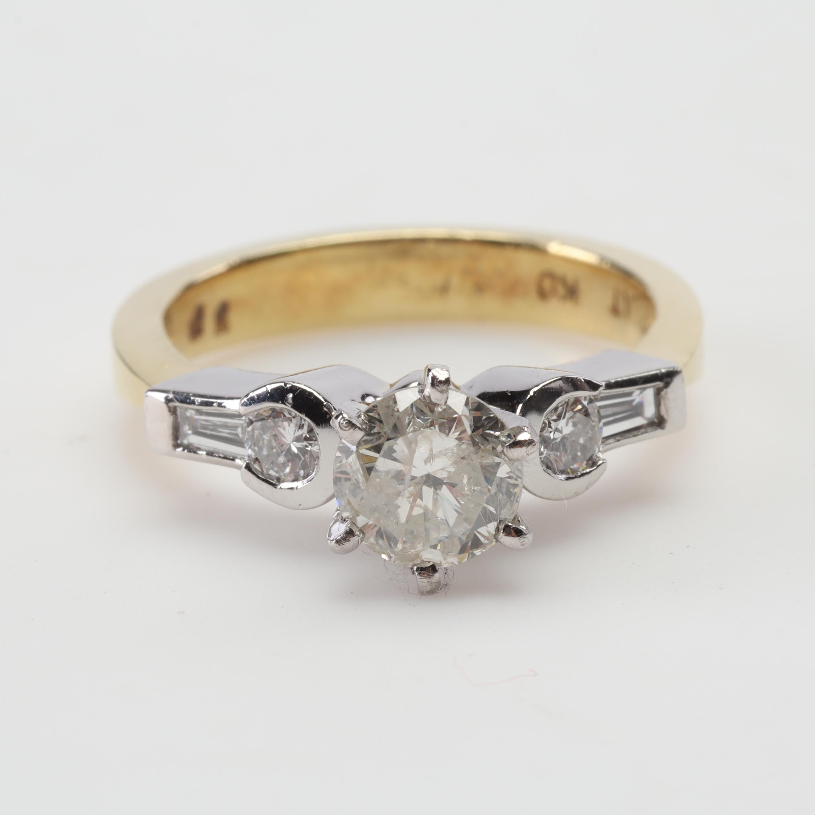 Platinum and 18K Yellow Gold Diamond Ring