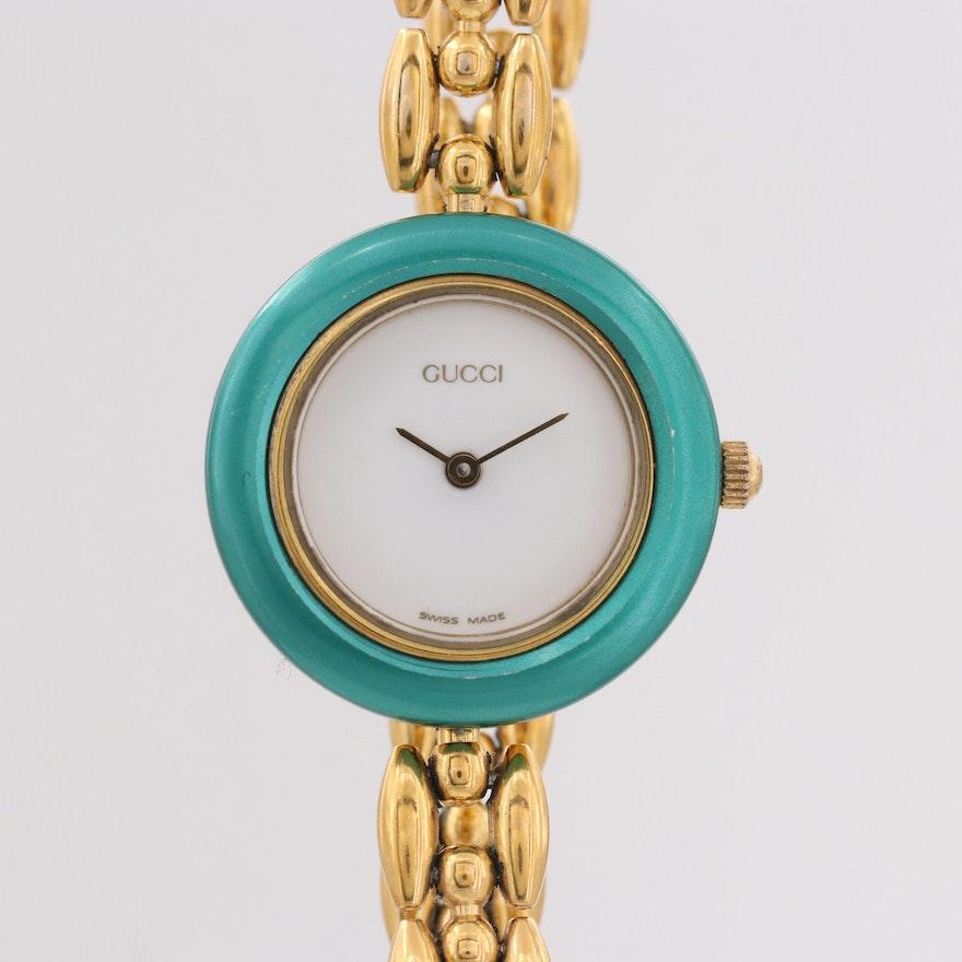 Gucci Quartz Wristwatch With Interchangeable Bezels