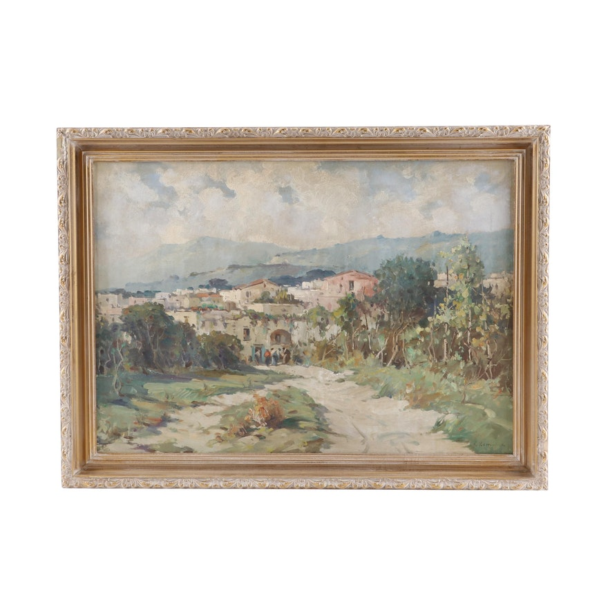 R. Romano Landscape Oil Painting