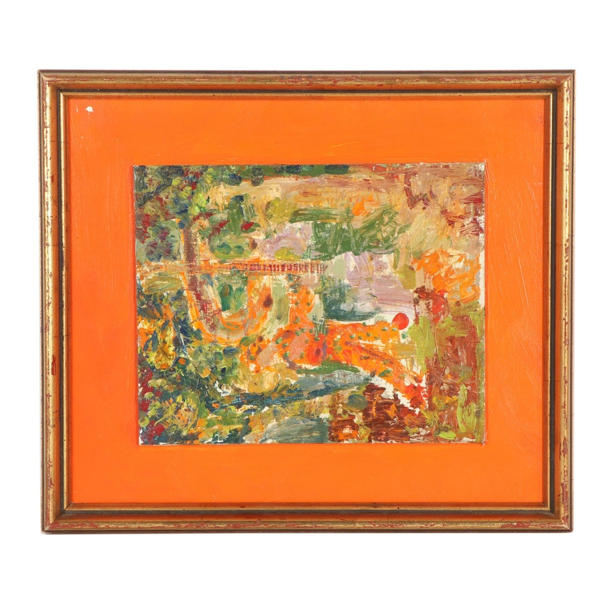 Late 20th Century Abstract Oil Painting