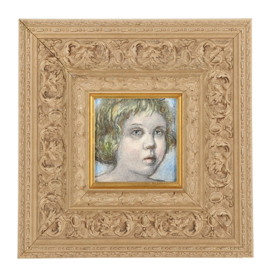 Child Portrait Acrylic Painting