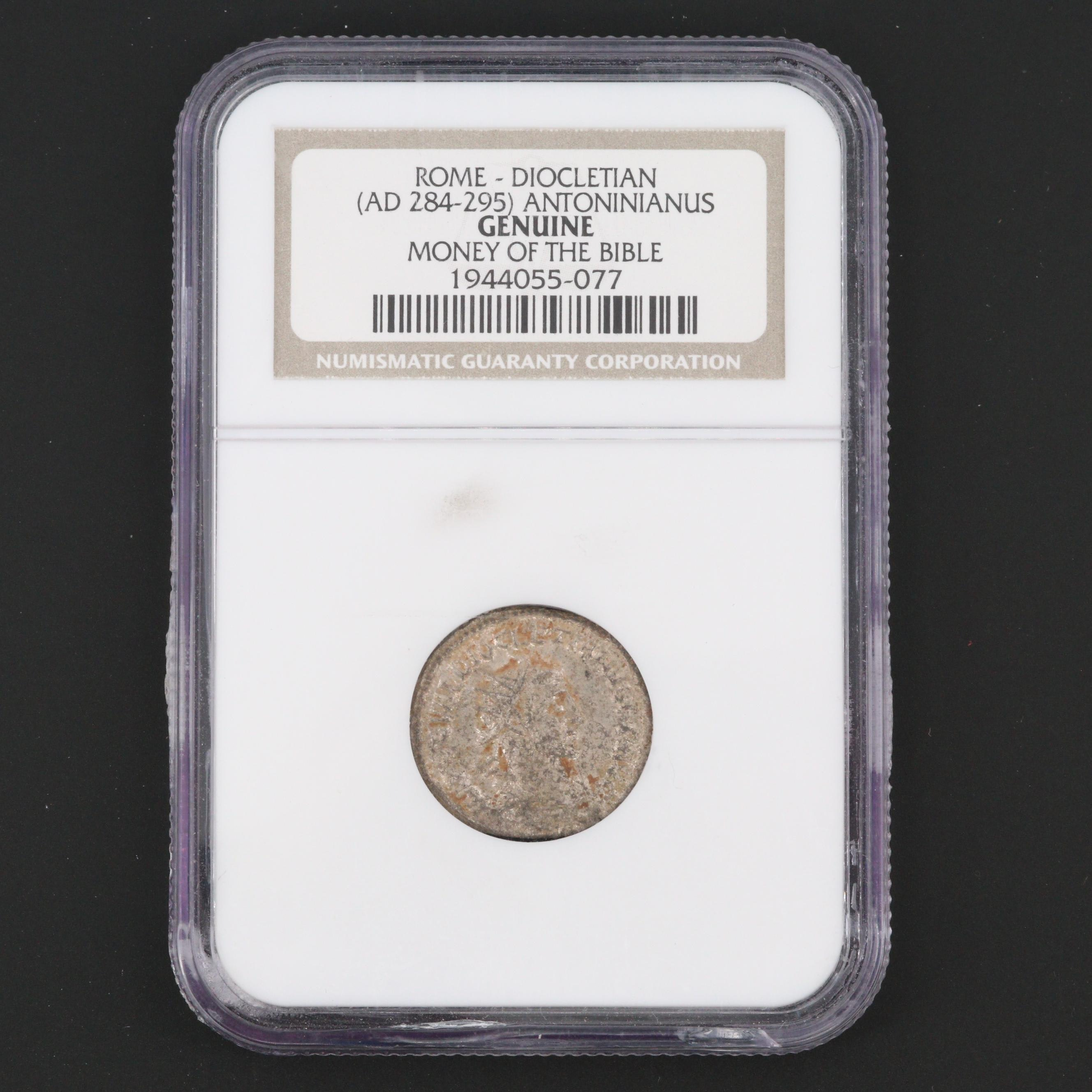 NGC Graded Genuine Ancient Rome Diocletian Antoninianus