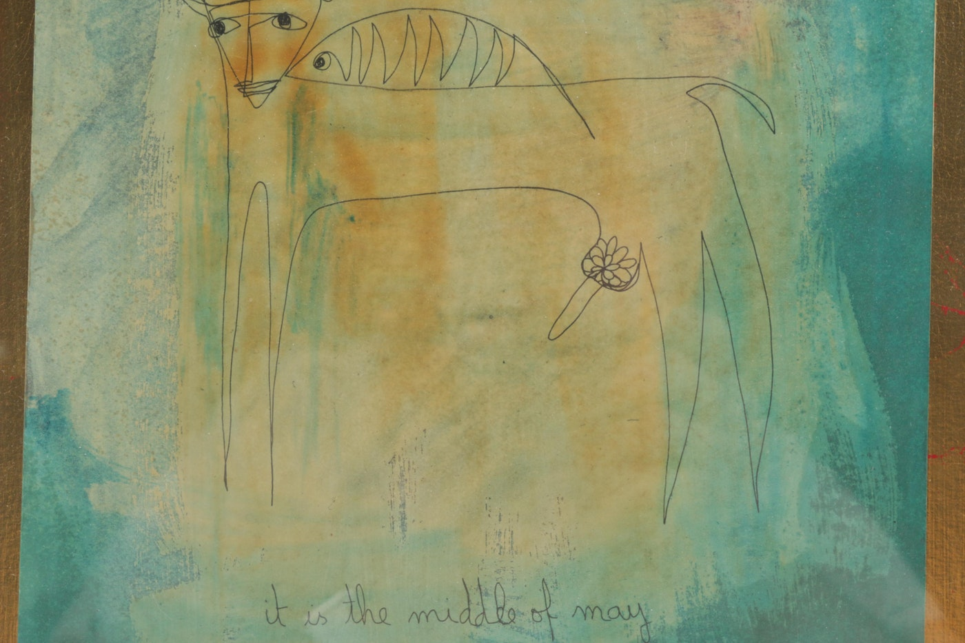 """Stella Popowski Mixed Media Painting """"It Is The Middle Of"""