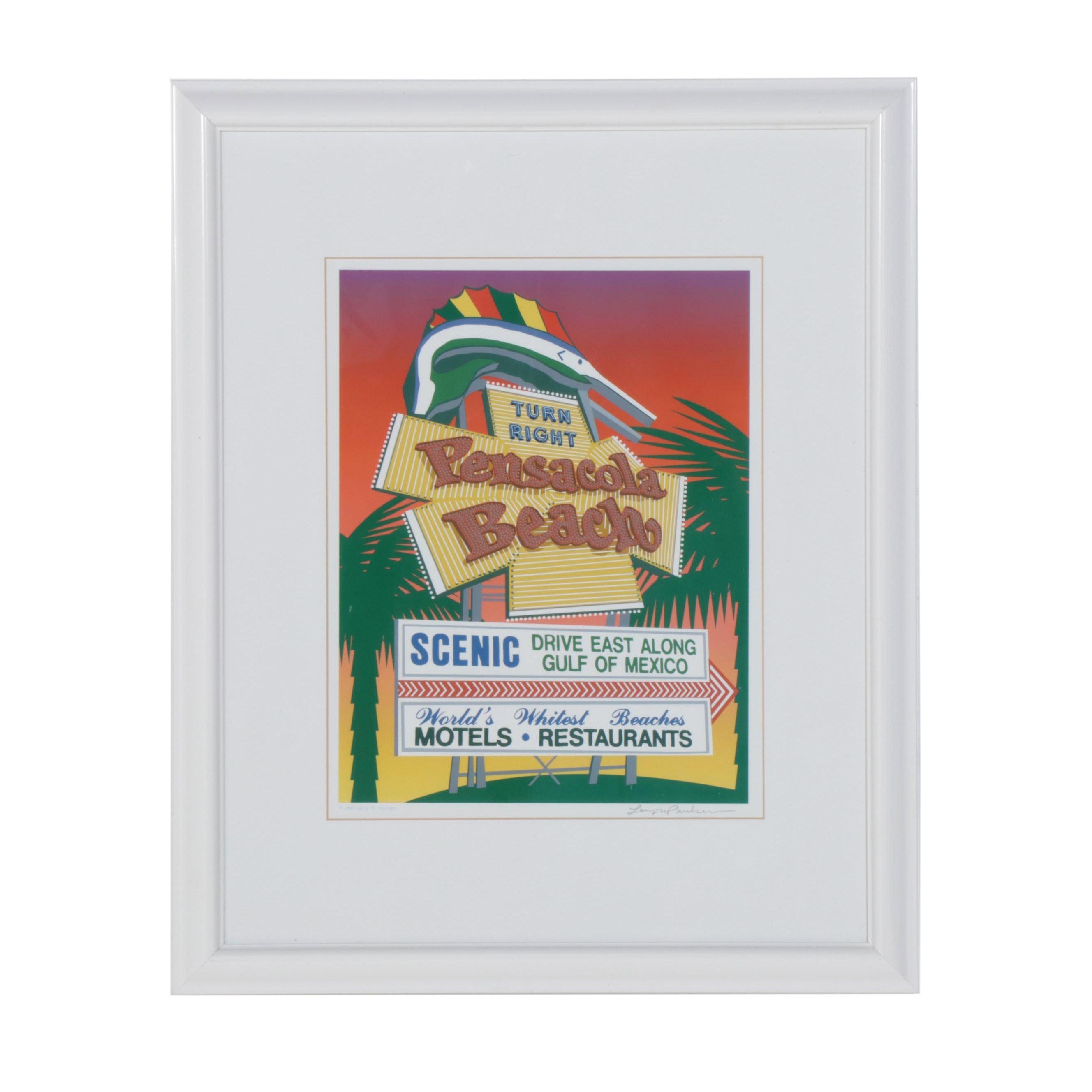 "Larry M. Paulsen Digital Print ""Pensacola Beach"""