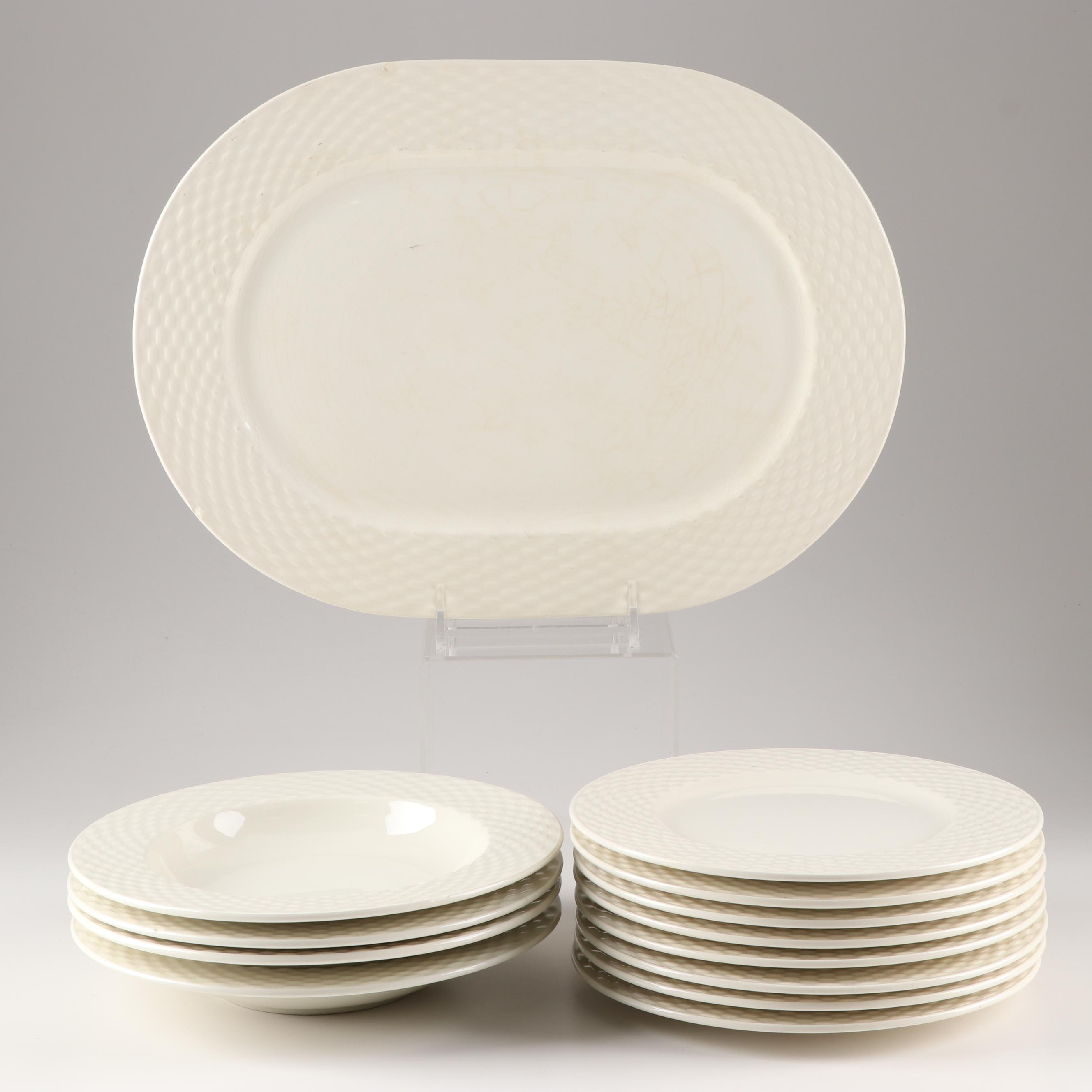 Pagnossin Ironstone President White Dinnerware Grouping