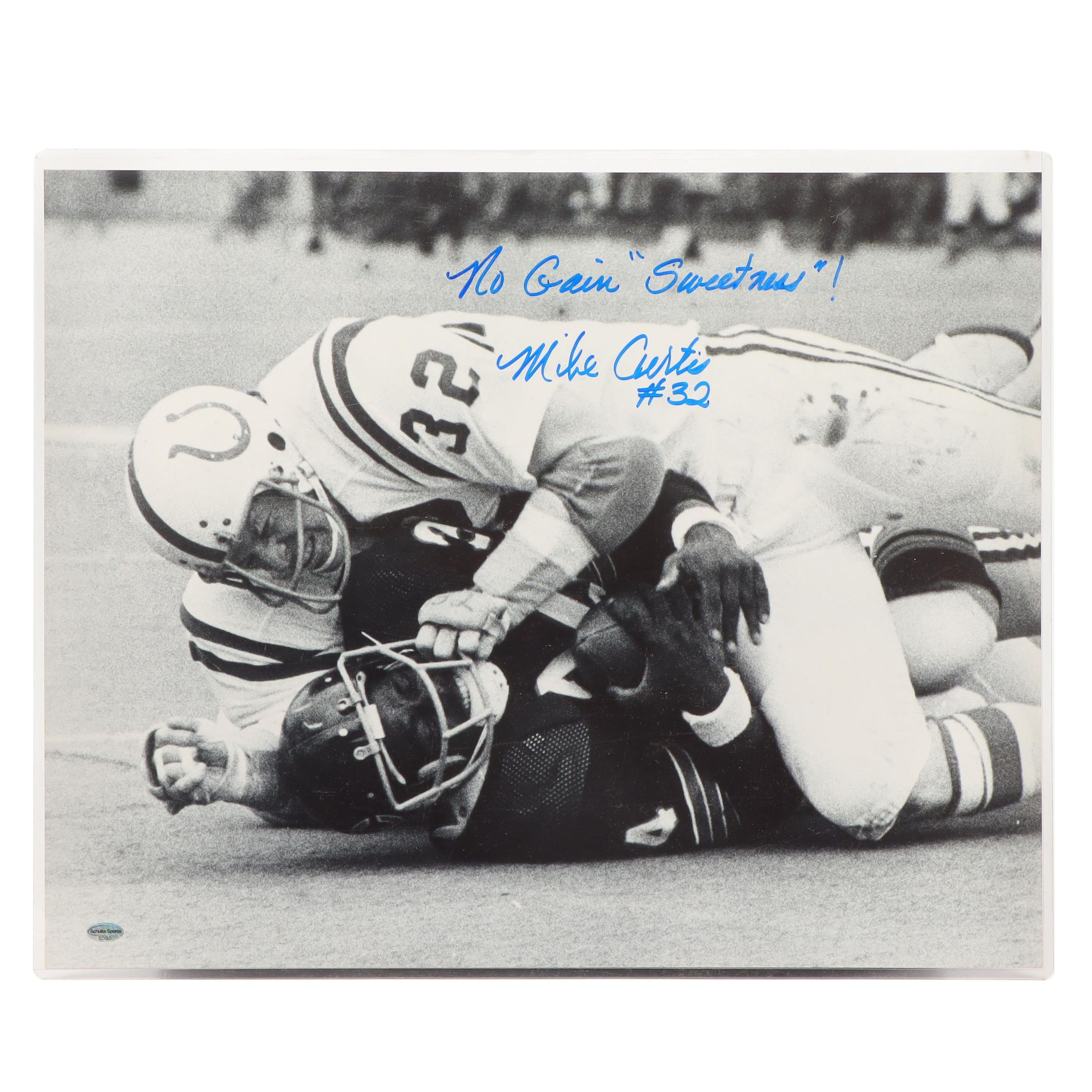 Mike Curtis, Baltimore Colt, Signed Photo Print  COA