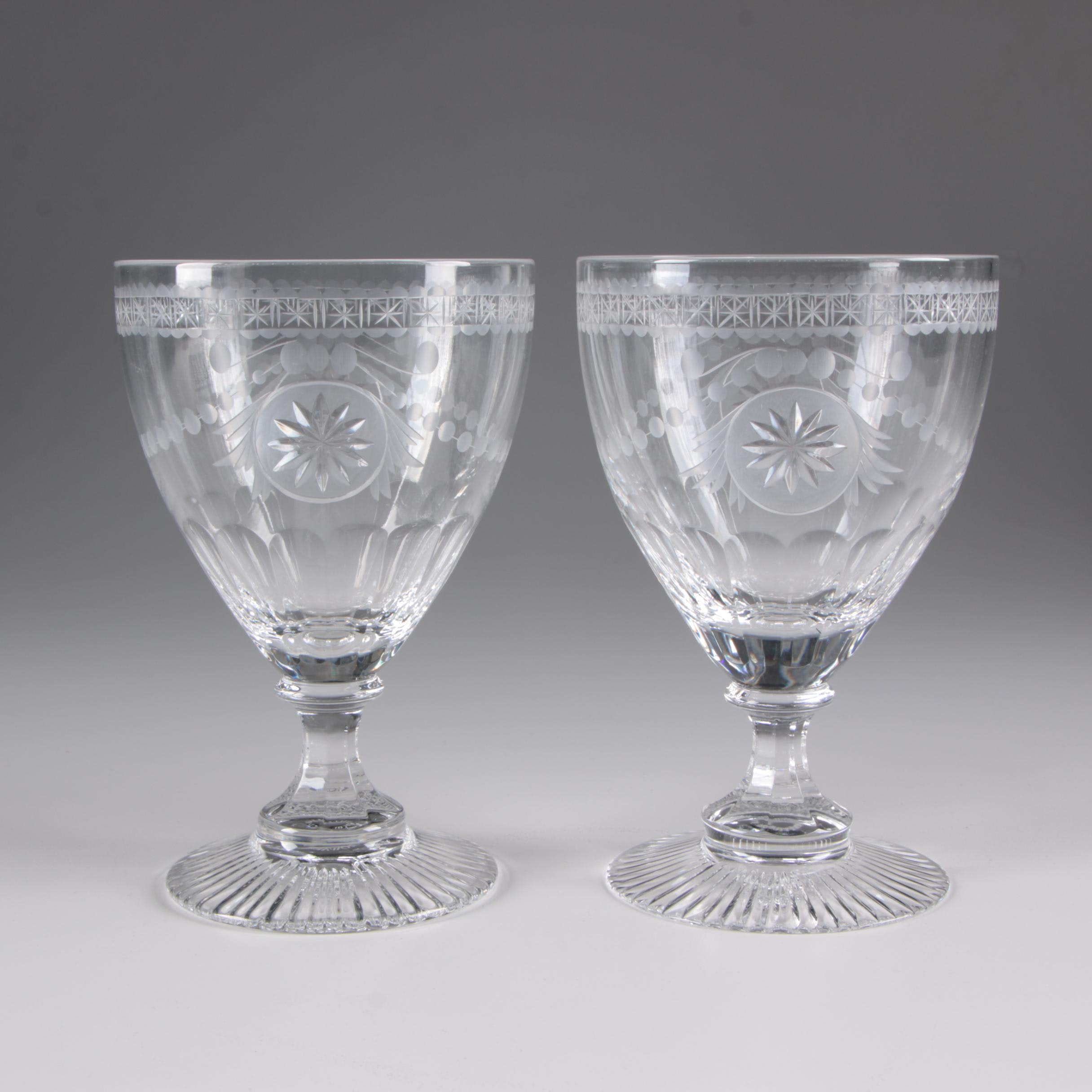 "William Yeoward ""Pearl"" Crystal Water Goblets"
