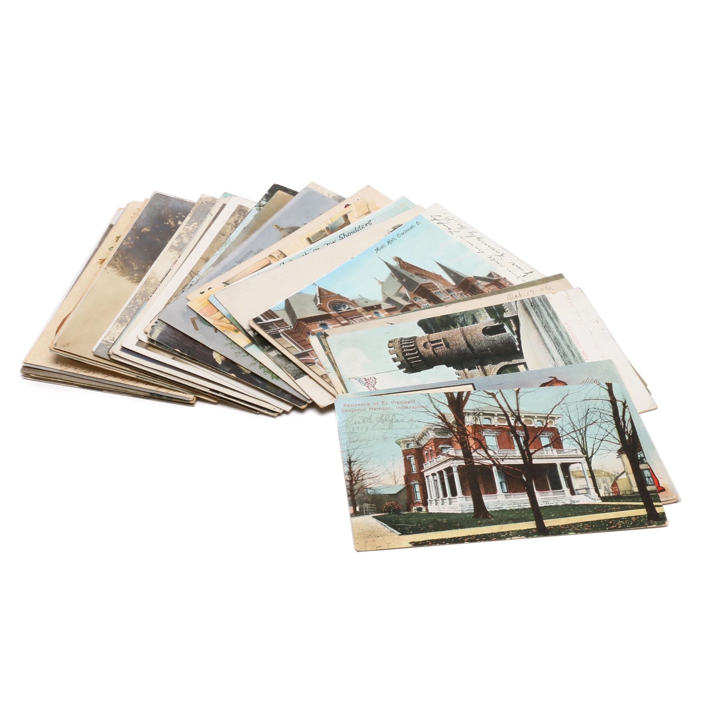 Holiday and Landmark Photo and Linen Postcards, Early 20th Century