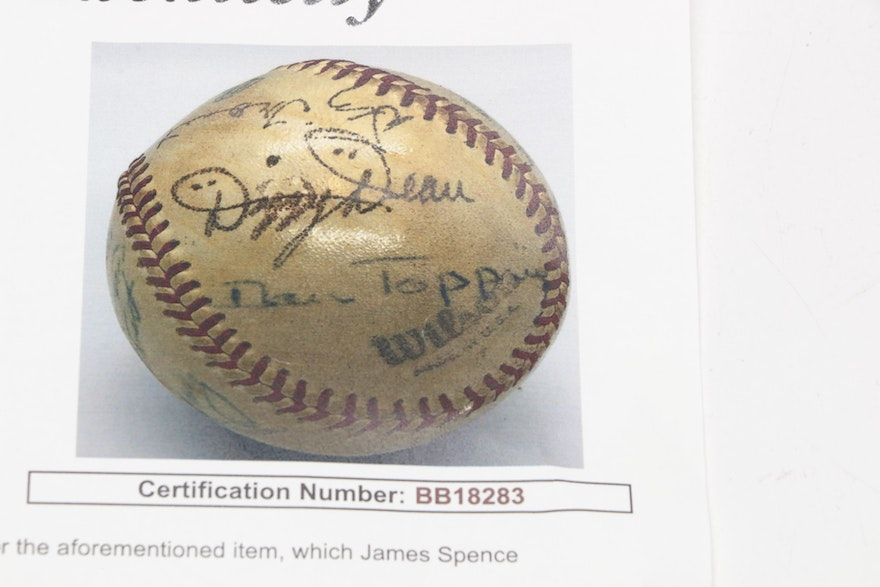 Dizzy Dean, Lefty Gomez And Others Signed Baseball, Circa