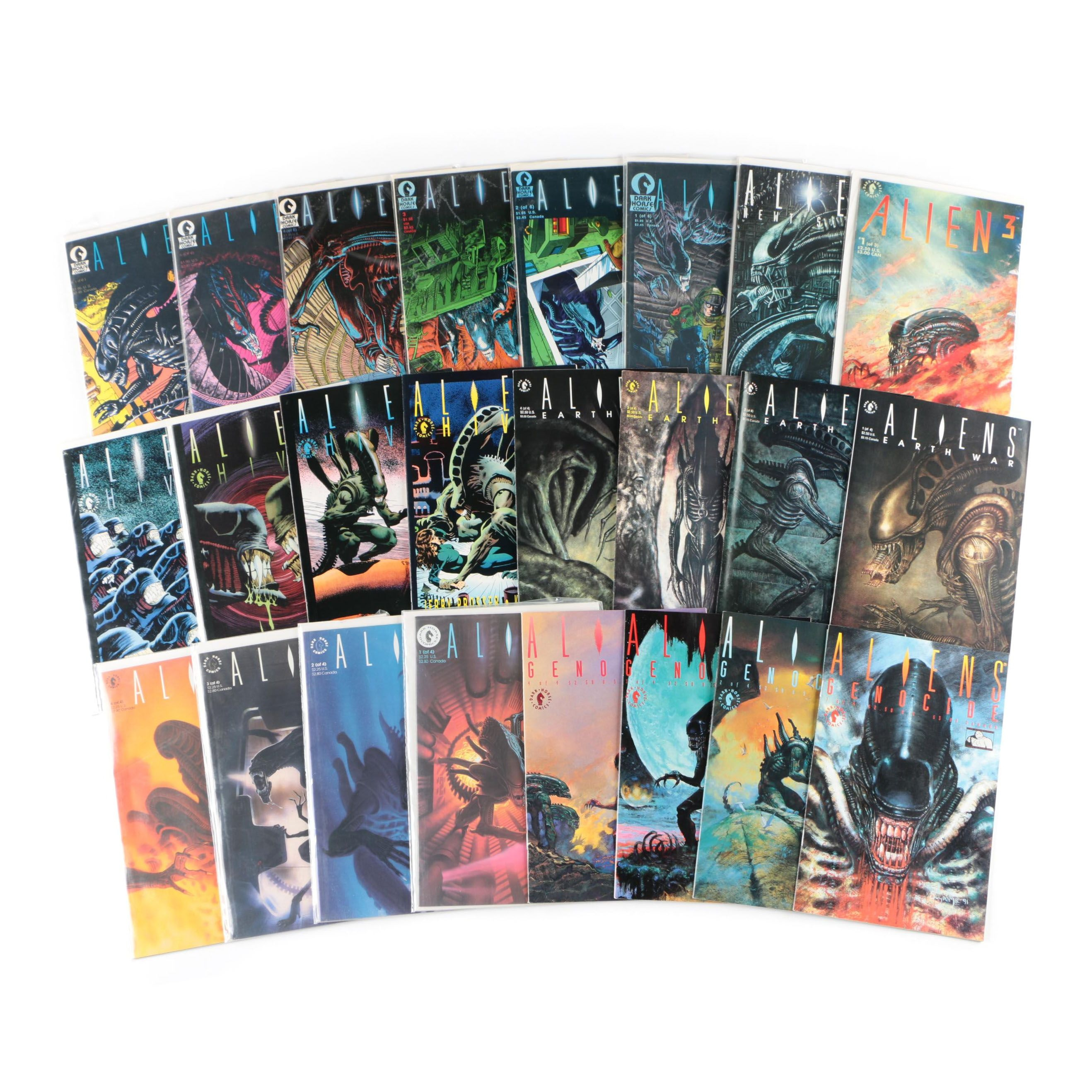 """Aliens"" Comic Books From Dark Horse Comics, Modern Age"