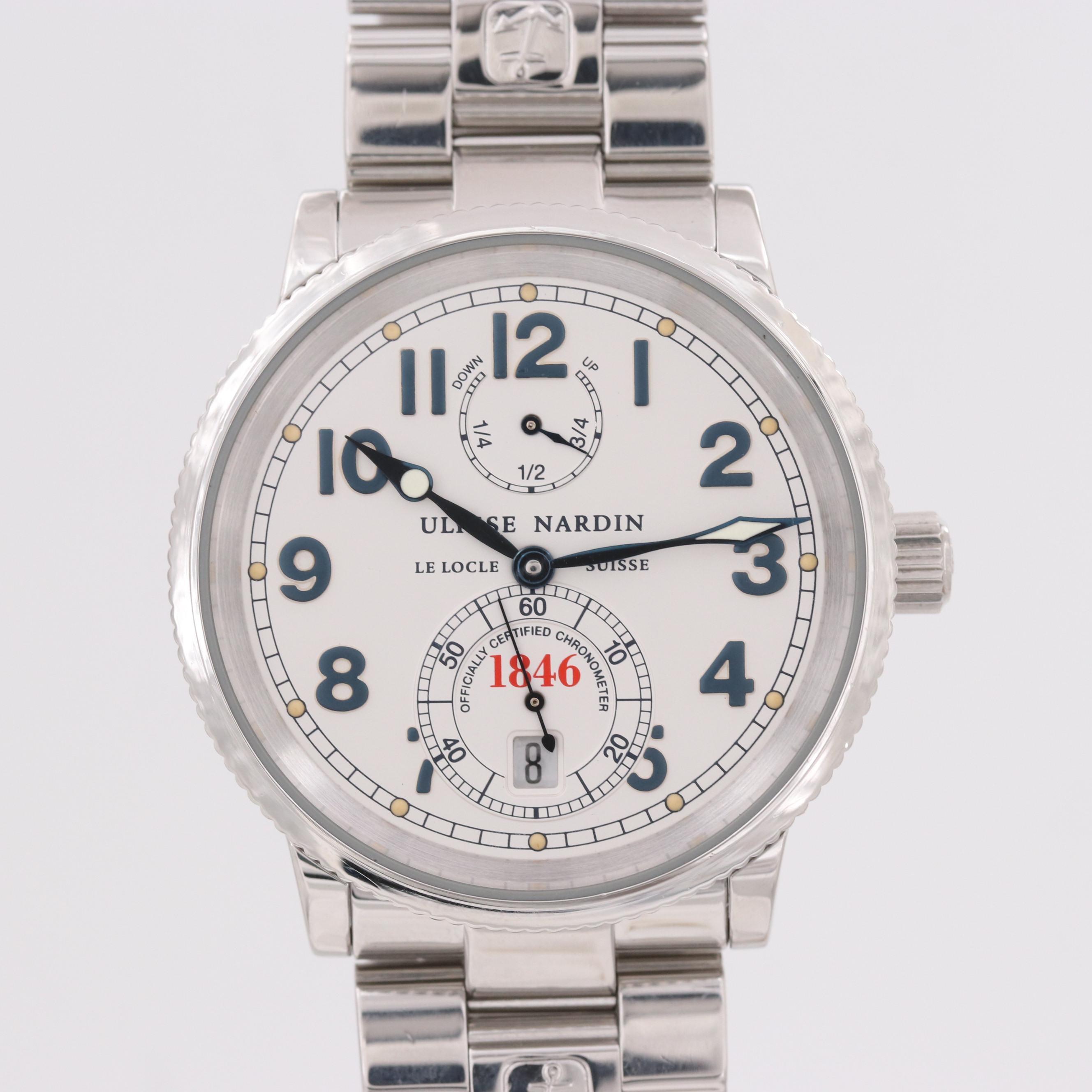 Ulysse Nardin Marine Chronometer Stainless Steel Automatic Wristwatch,Circa 2000