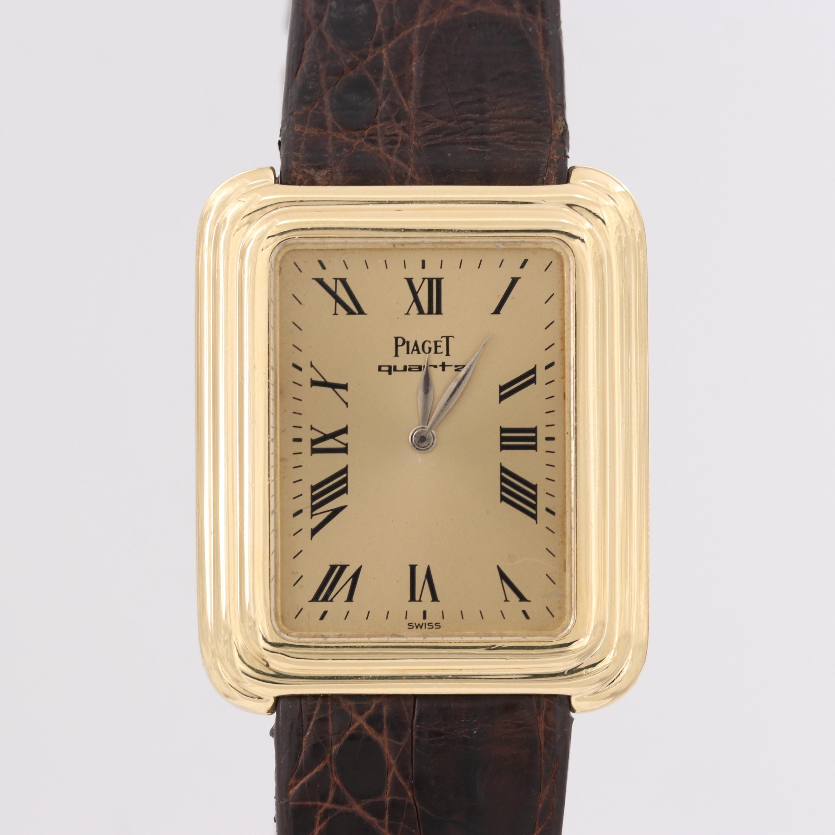 Piaget 18K Yellow Gold Quartz Wristwatch