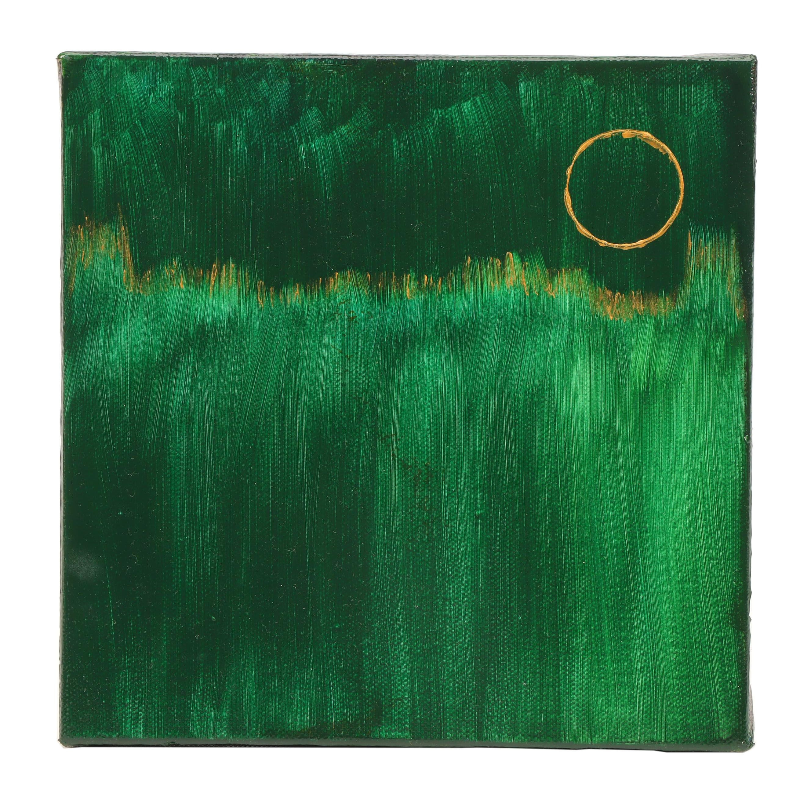 "Neville Shenton Abstract Acrylic Painting ""Celtic Glow"""