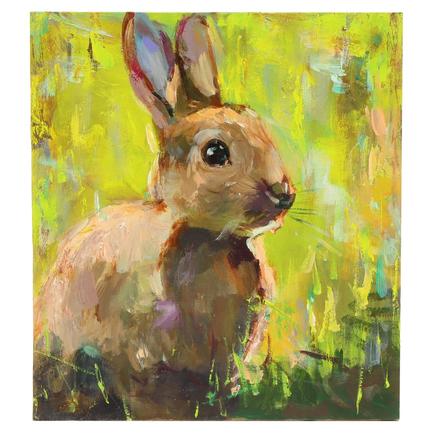 "Adam Deda Oil Painting ""Bunny"""