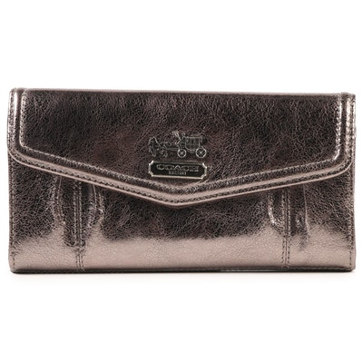 8f176fe93abaeb Coach Signature Embossed Black Leather Bifold Wallet | EBTH
