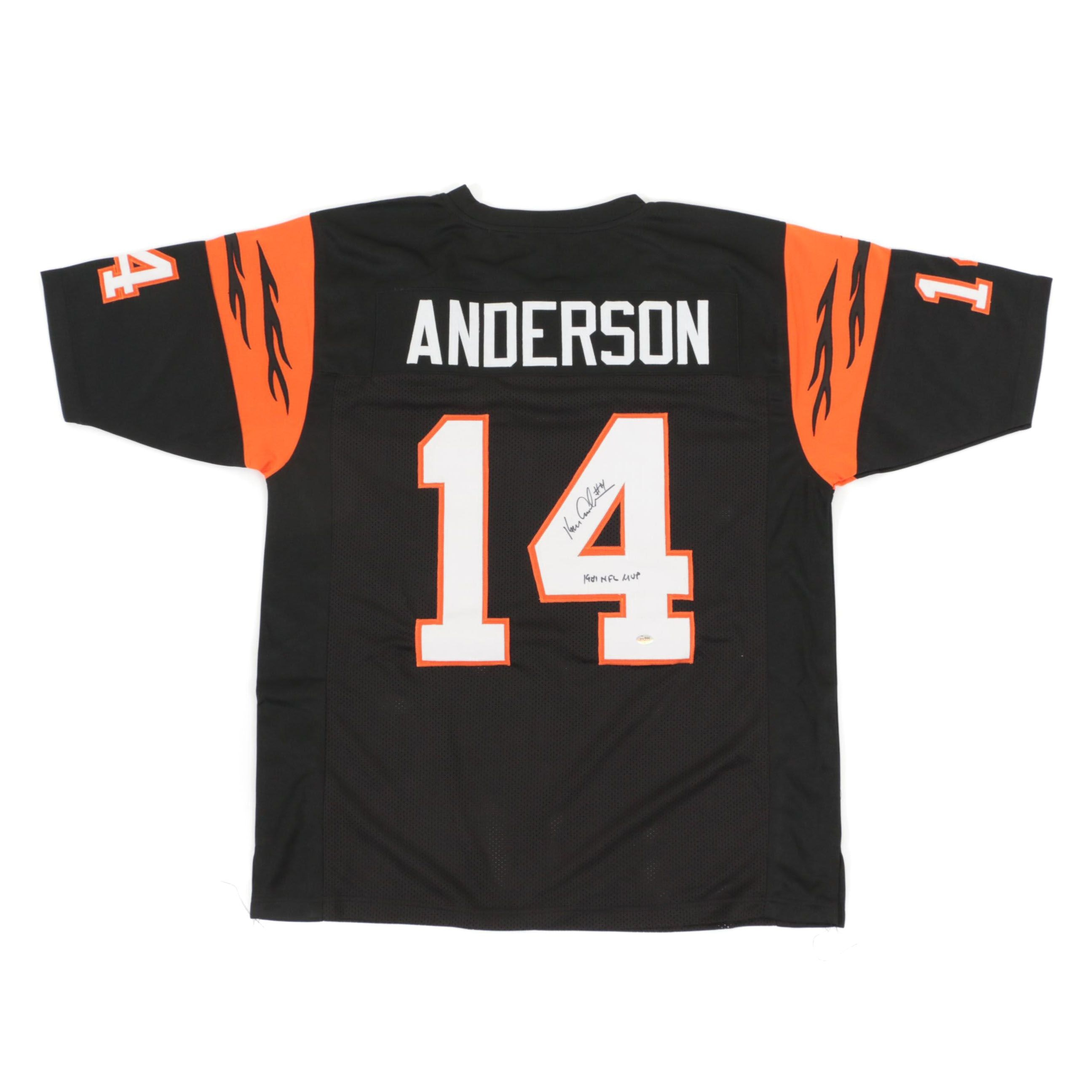 Ken Anderson Signed Cincinnati Bengals Replica Jersey  COA