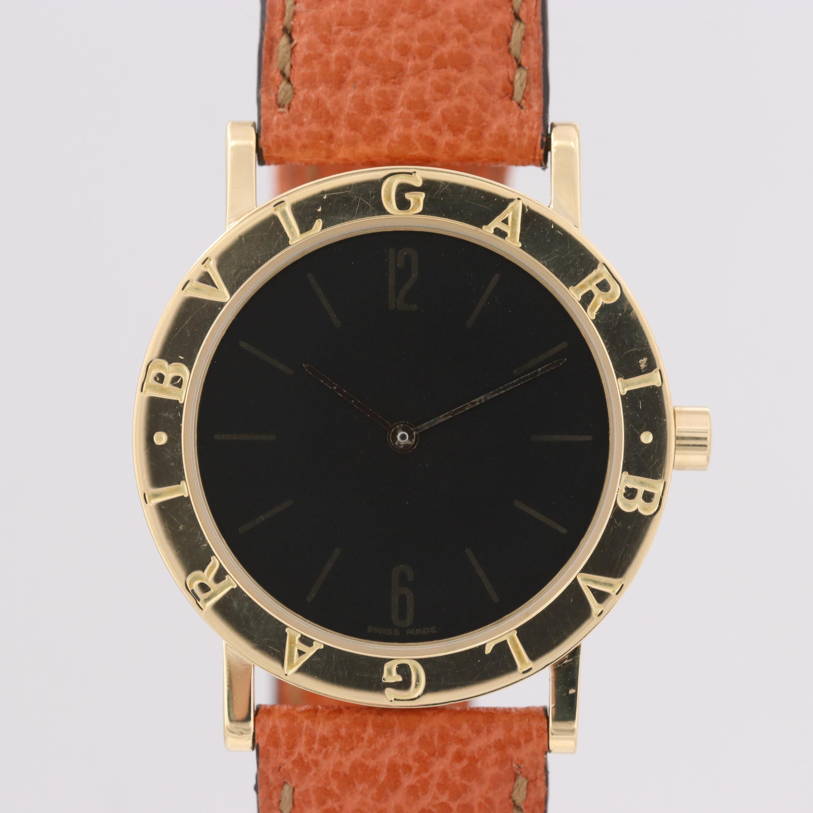 Bulgari Bulgari 18K Yellow Gold Quartz Wristwatch