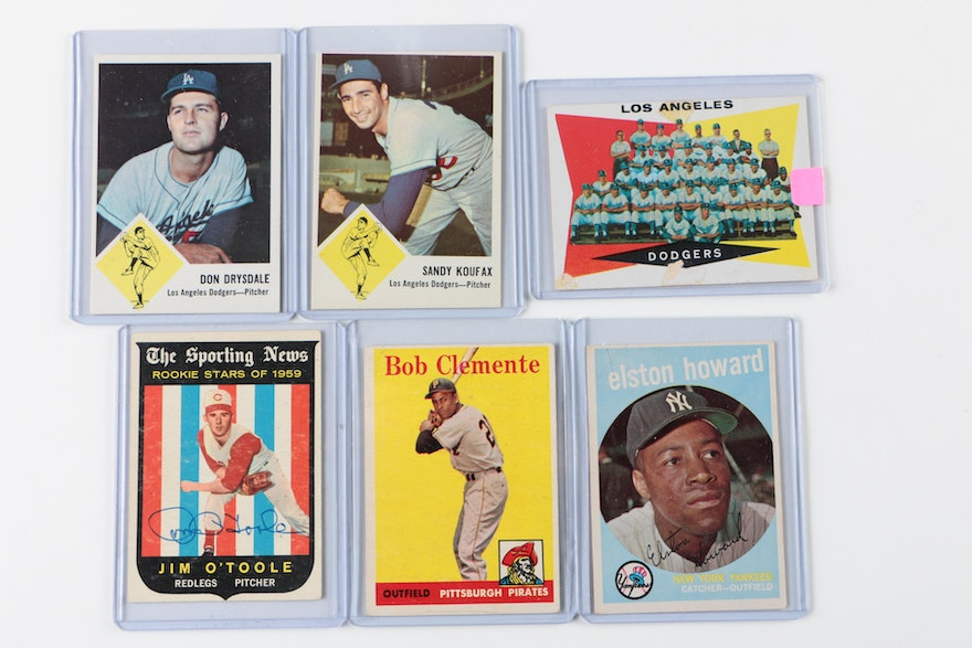 Baseball Cards Including Koufax, Mantle, Clemente And More