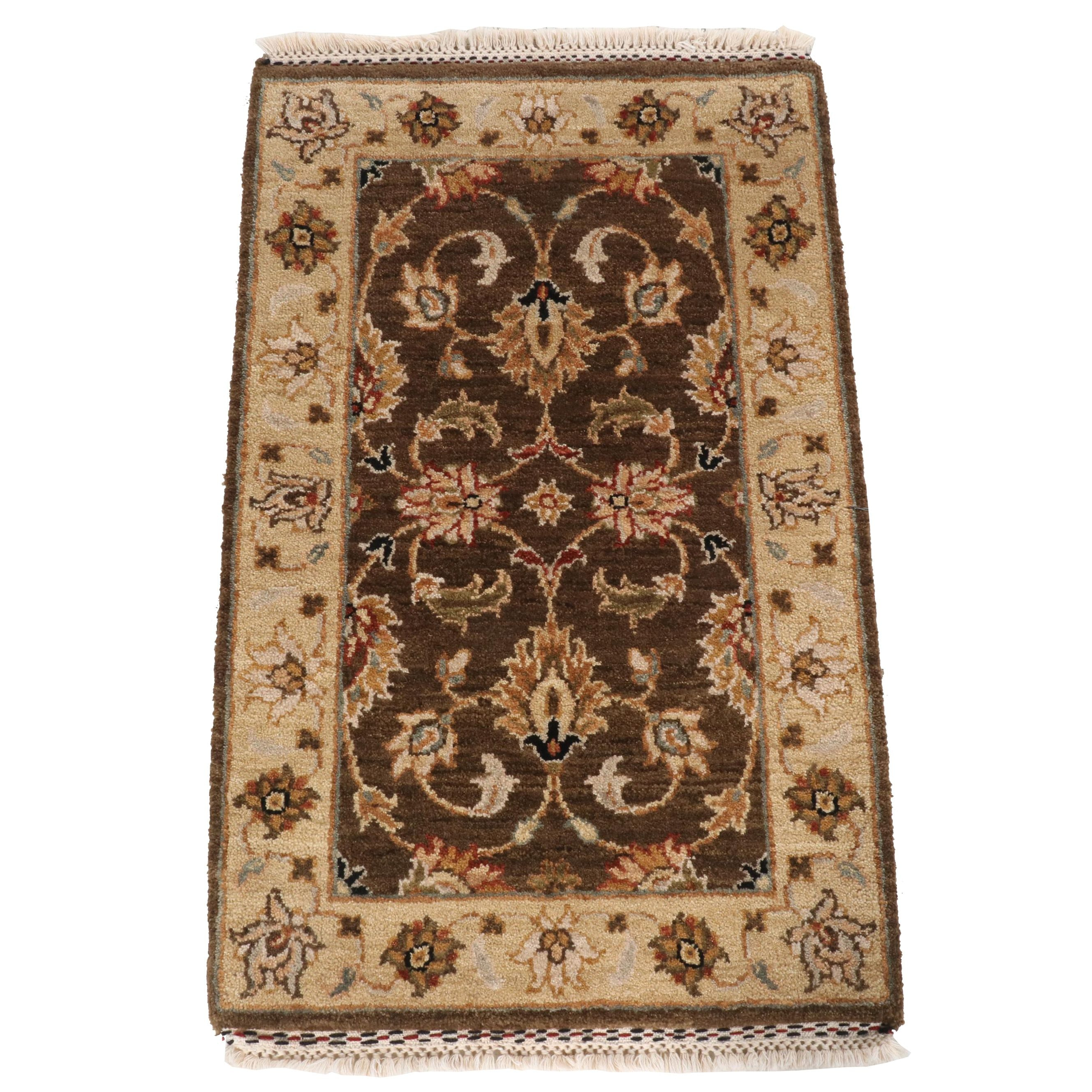 Hand-Knotted Indian Agra Wool Rug