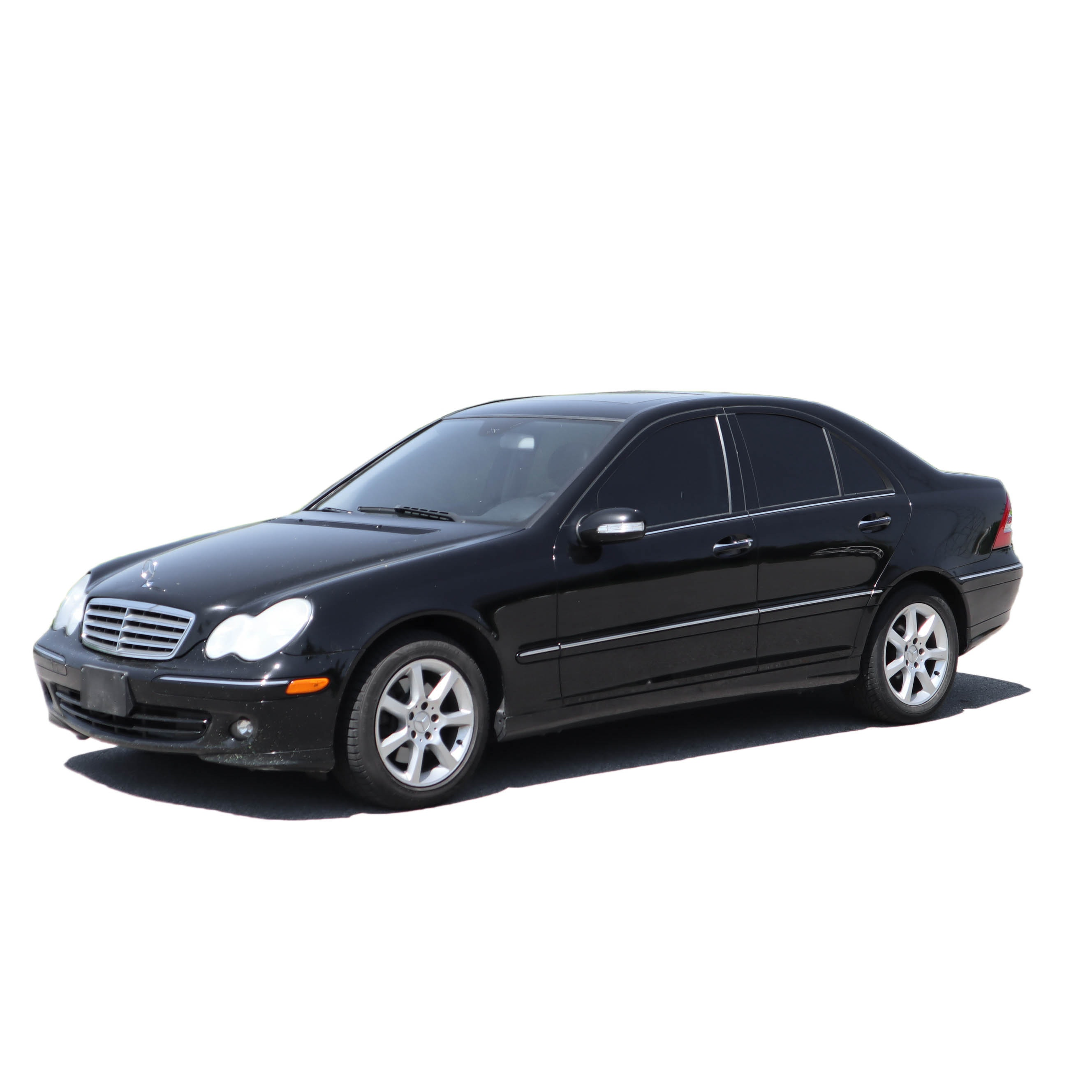 2007 Mercedes-Benz C-Class C280 Luxury Sedan 4Matic in Black