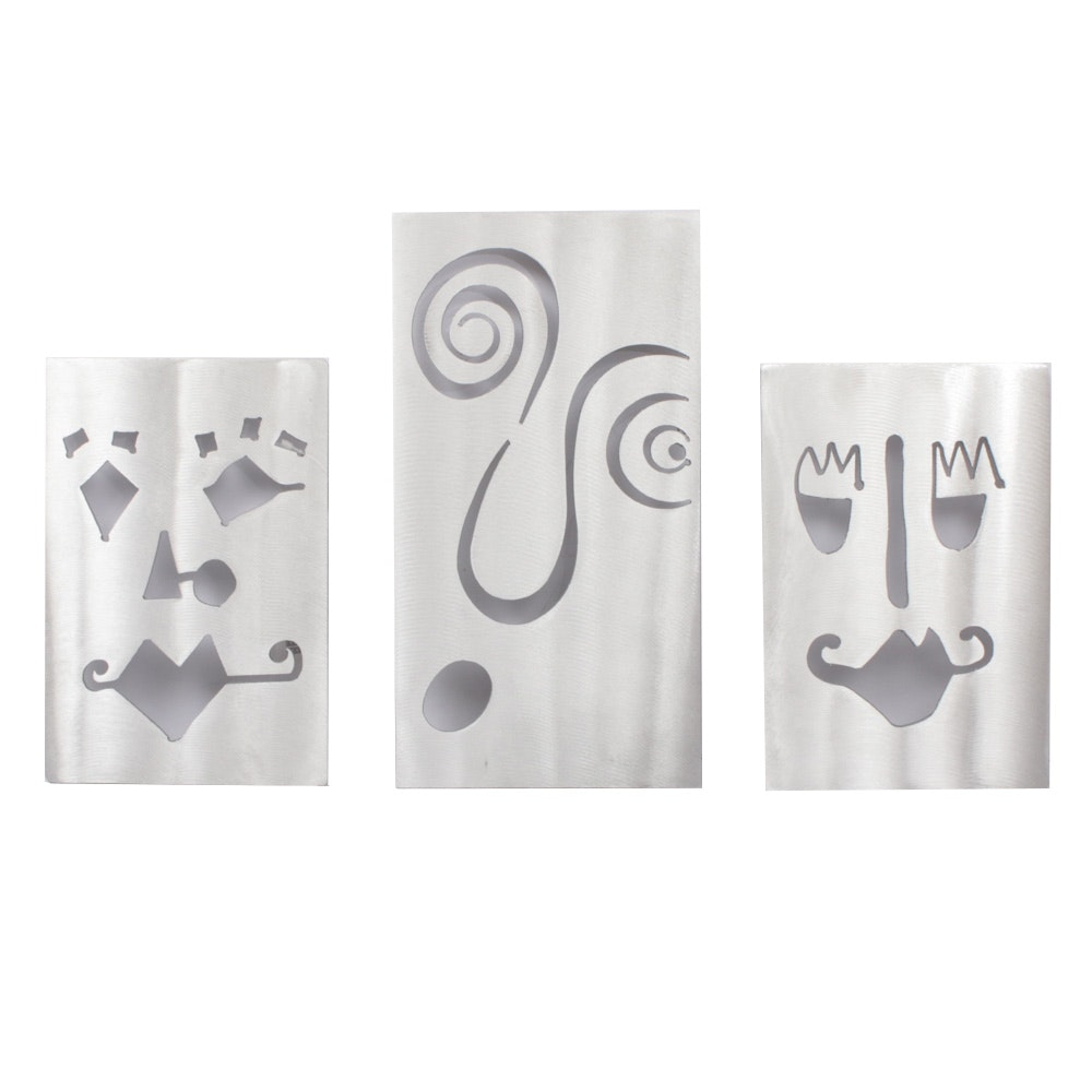 Rock Zorich Wall Face Metal Plaques
