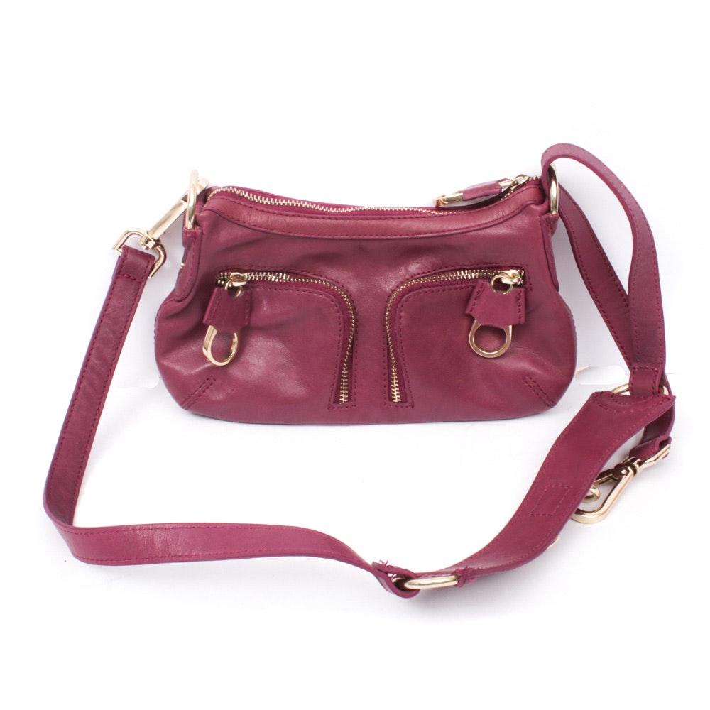 Ted Baker Plum Leather Shoulder Bag