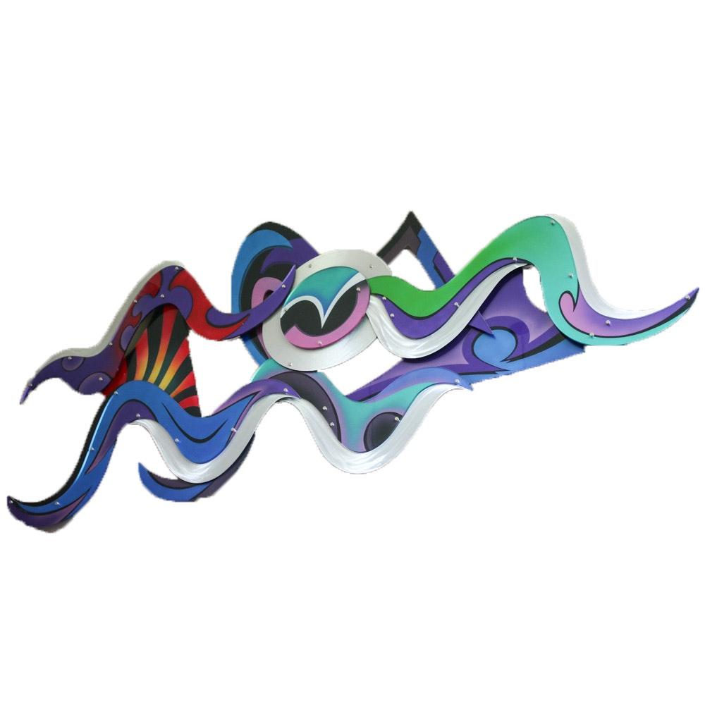 Shlomi Haziza for H Studio Vision Aluminum and Acrylic Abstract Wall Sculpture
