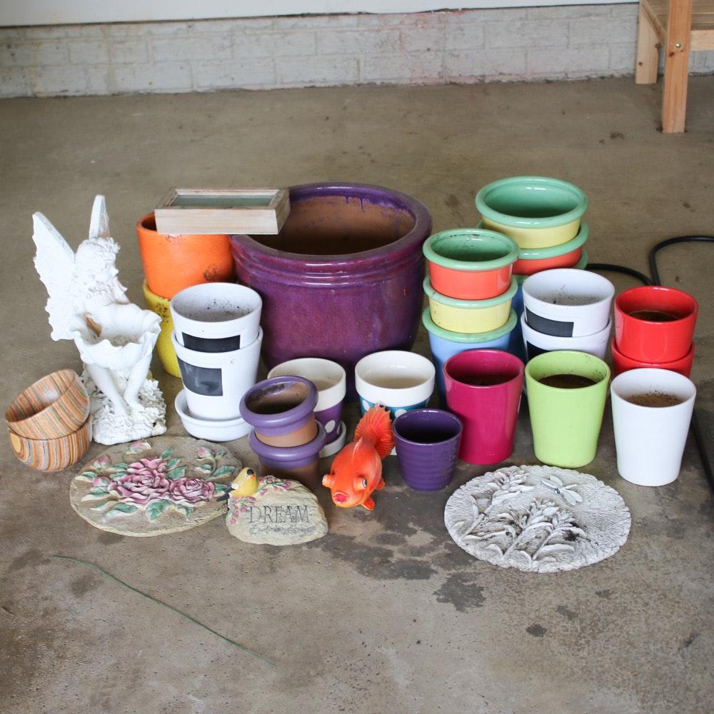 Planters and Outdoor Garden Decor